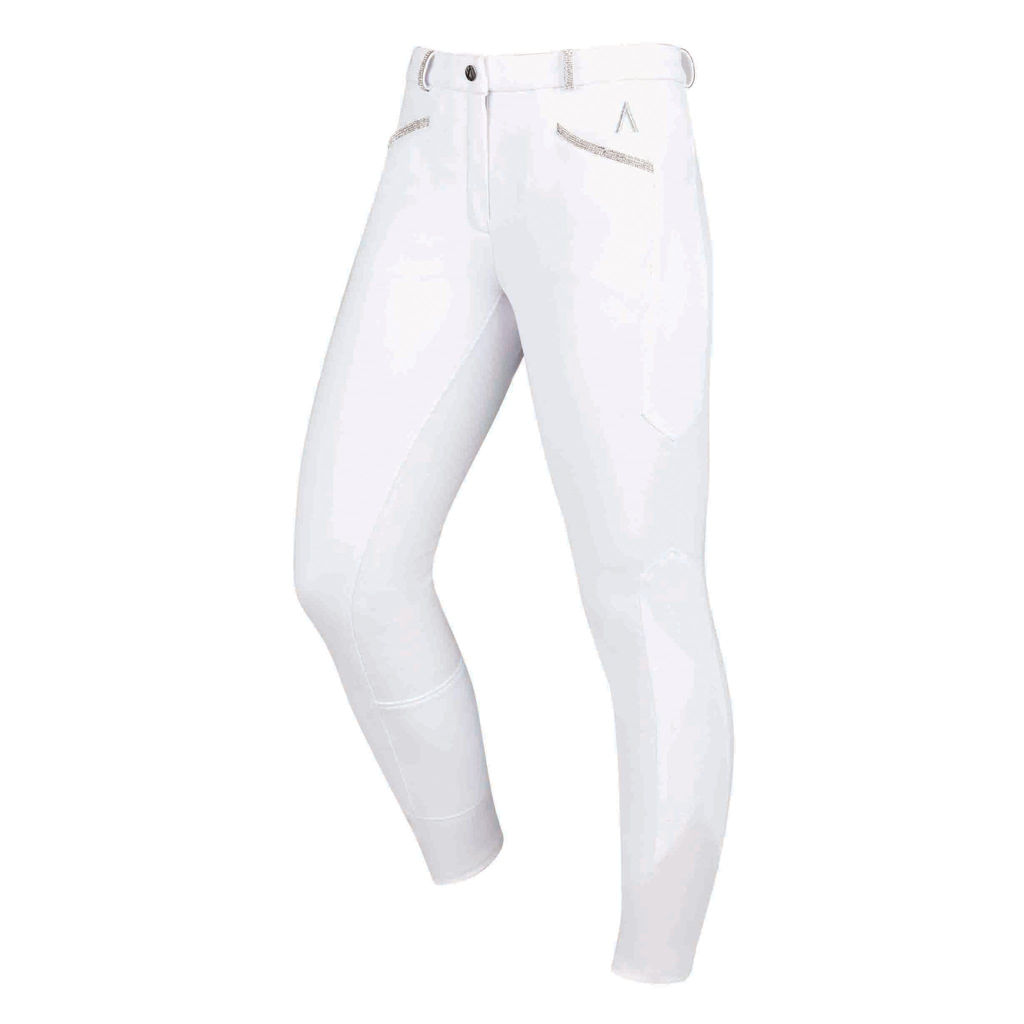 Dublin Black Linda Silicone Full Seat Breeches 1001556017 White Front