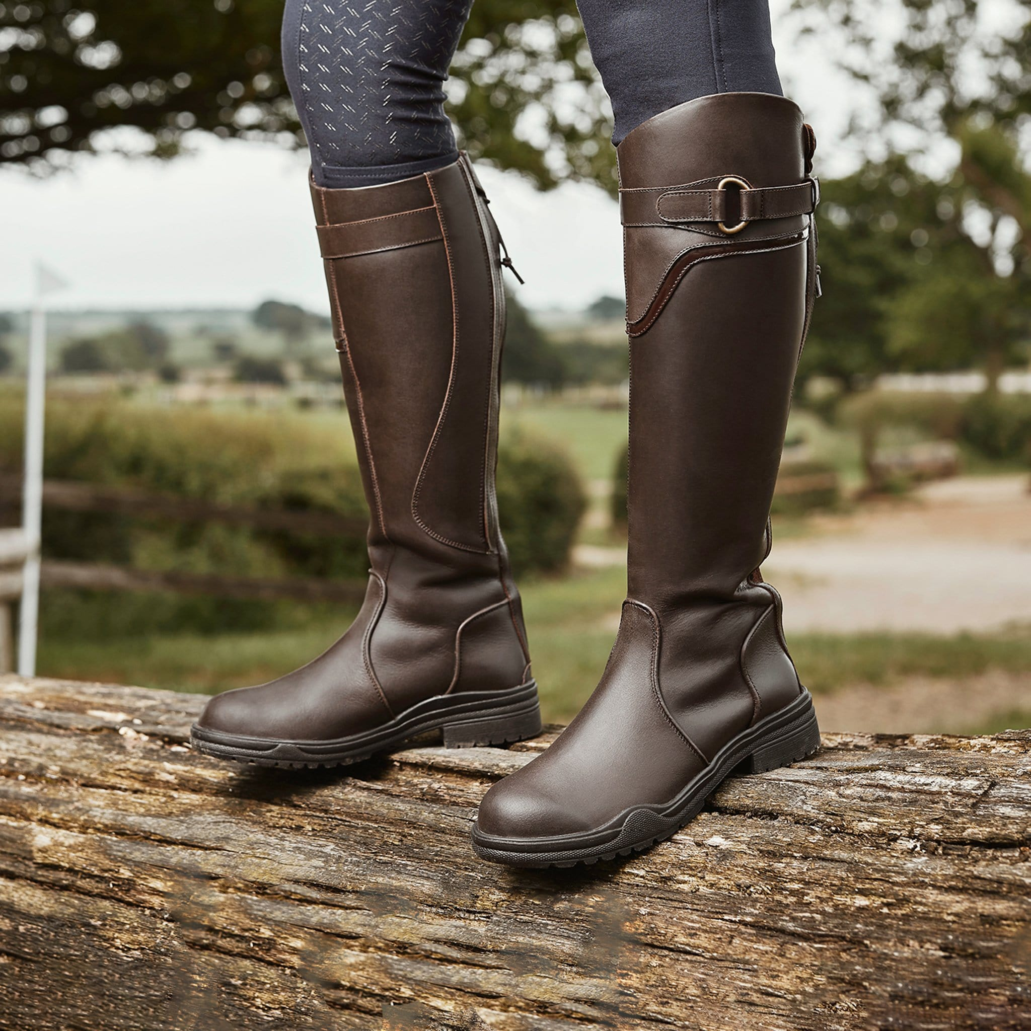 Dublin Calton Boots in Dark Brown 817735 Lifestyle Shot