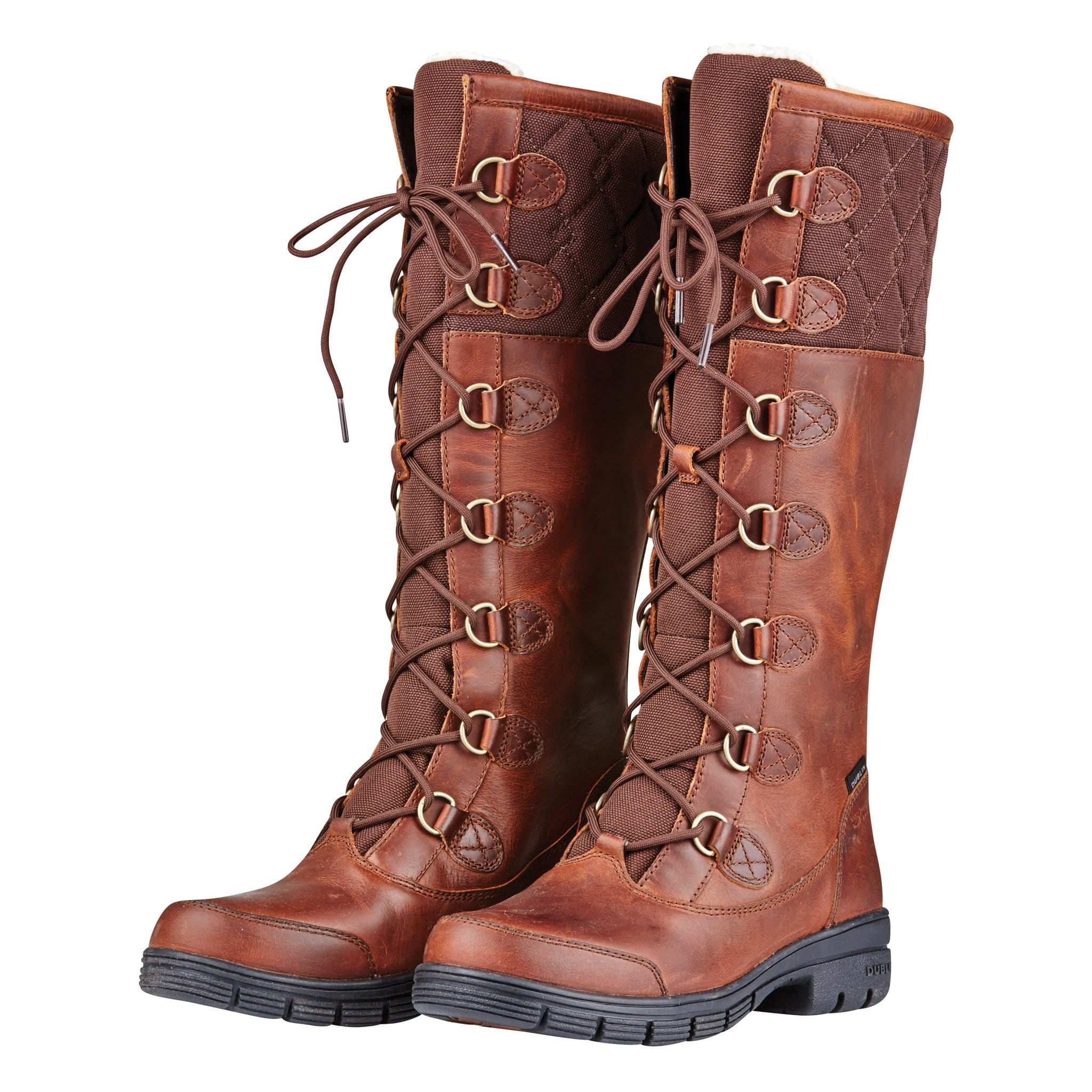 Dublin Fleet Boots Red Brown Front