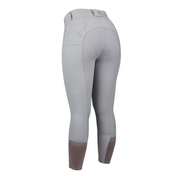 Dublin Lunar Silicone Full Seat Breeches 813173 Grey Rear