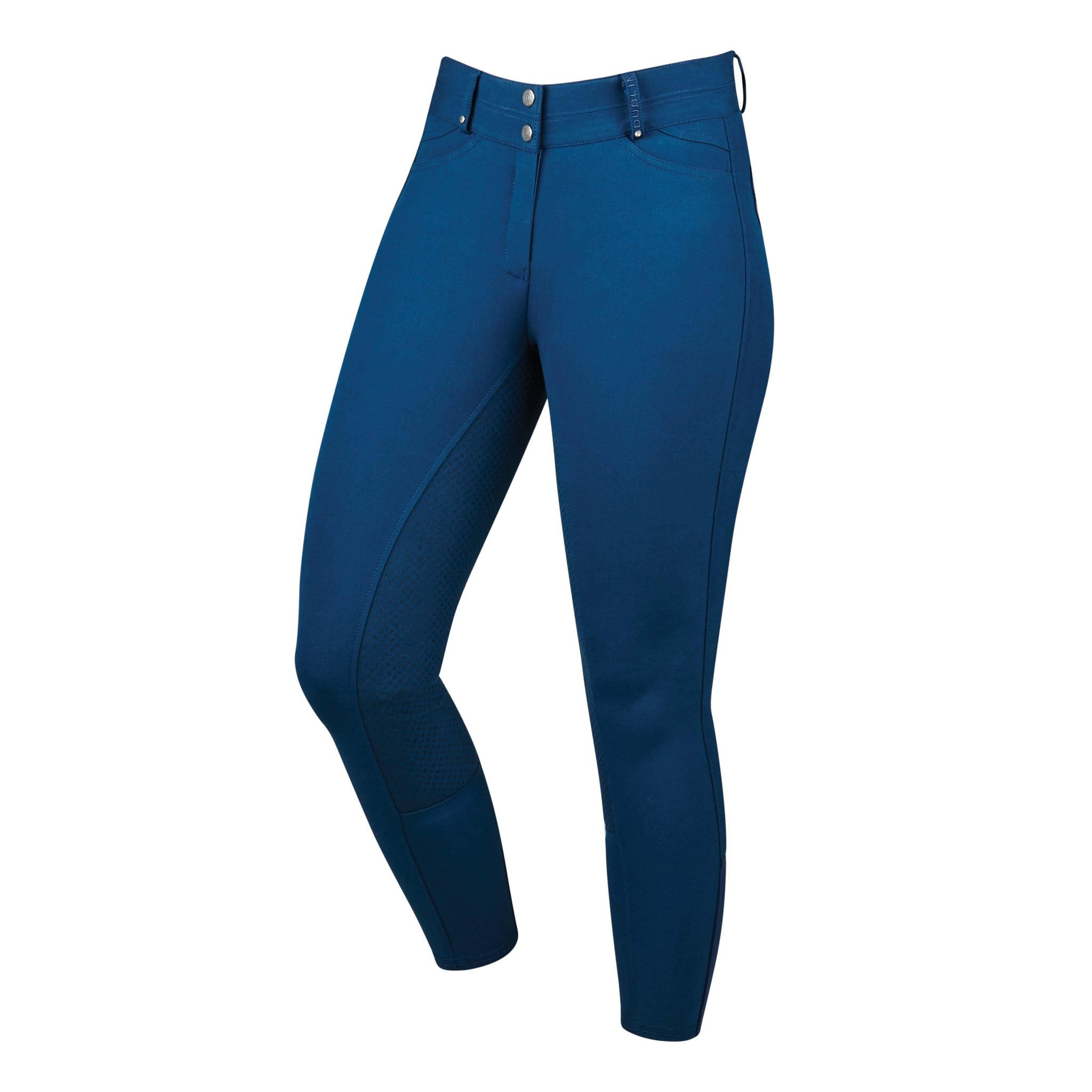 Dublin Lunar Silicone Full Seat Breeches 813166 Navy Front