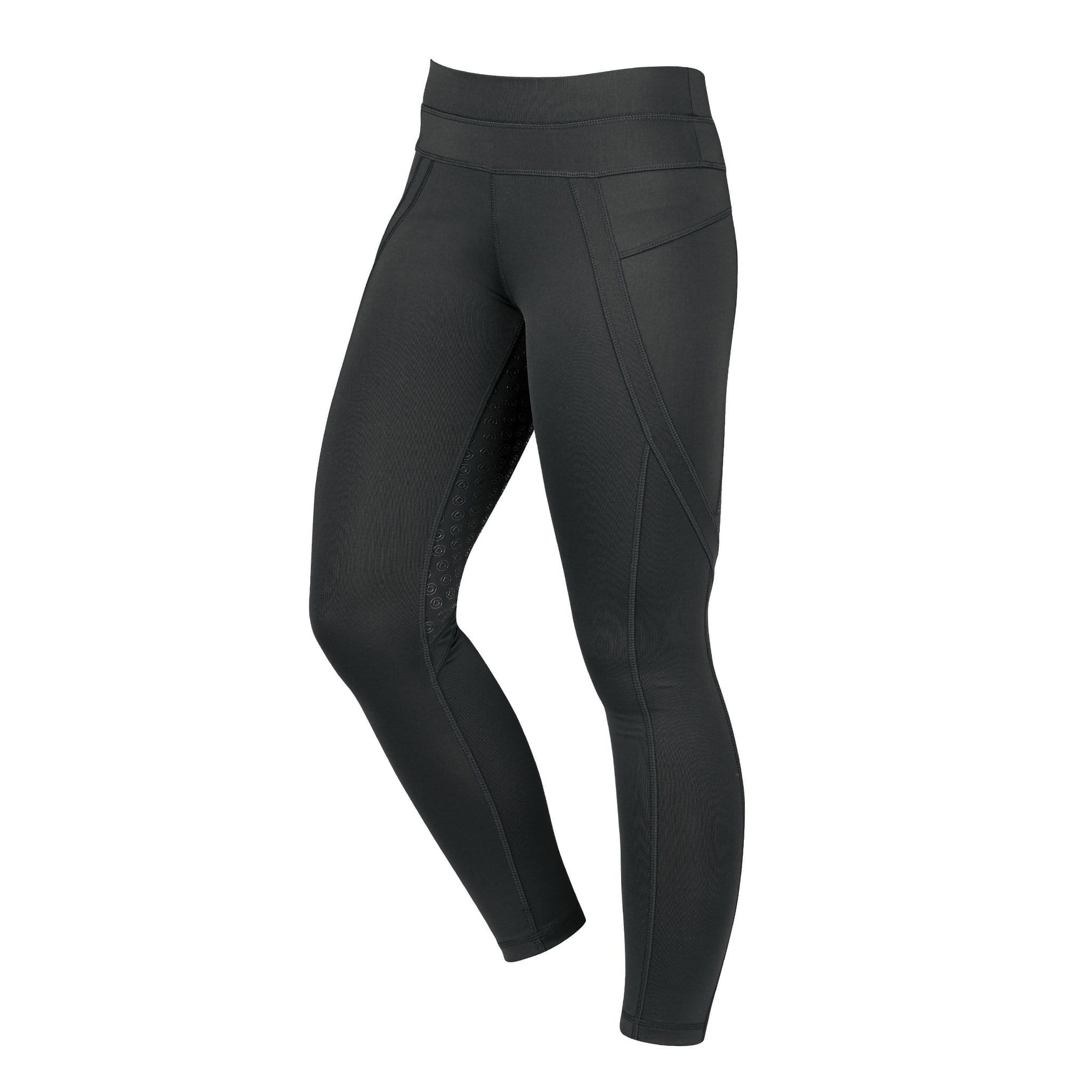 Dublin Performance Active Silicone Full Seat Riding Tights 809307 Black Front