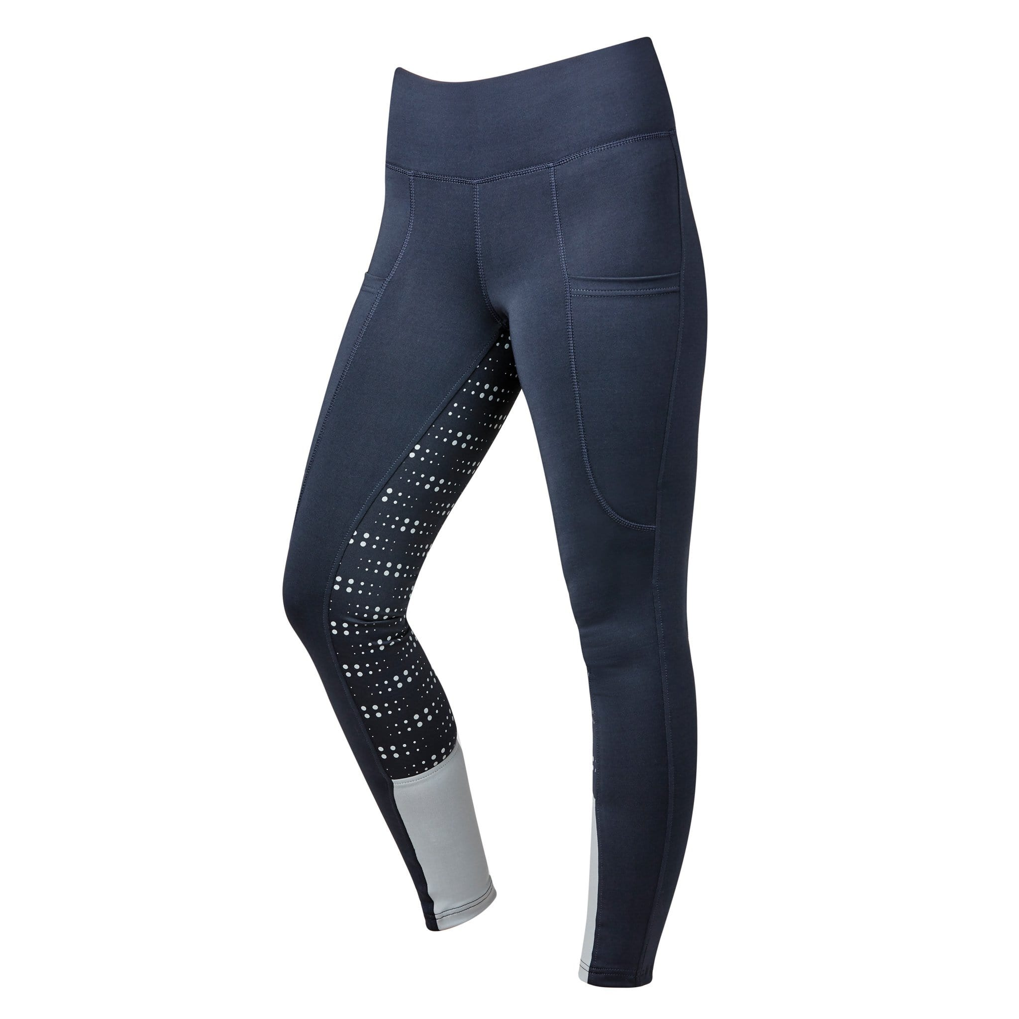 Dublin Performance Cool-It Dot Silicone Full Seat Riding Tights 1001825 Navy Front