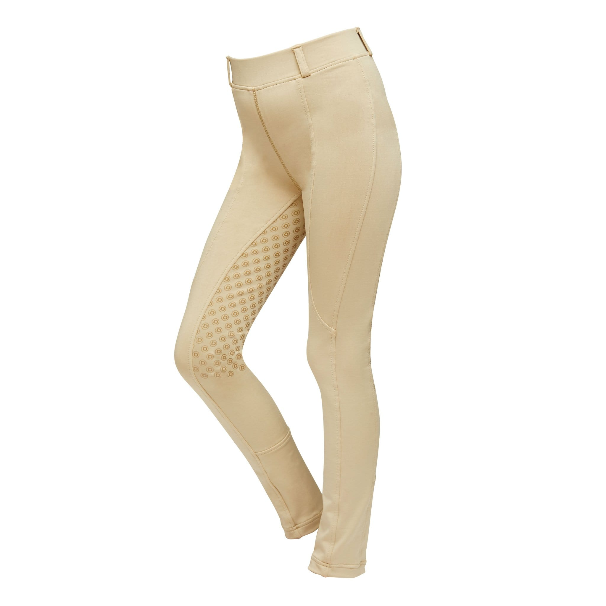 Dublin Children's Performance Cool-It Gel Silicone Full Seat Riding Tights 800730 Beige Front.