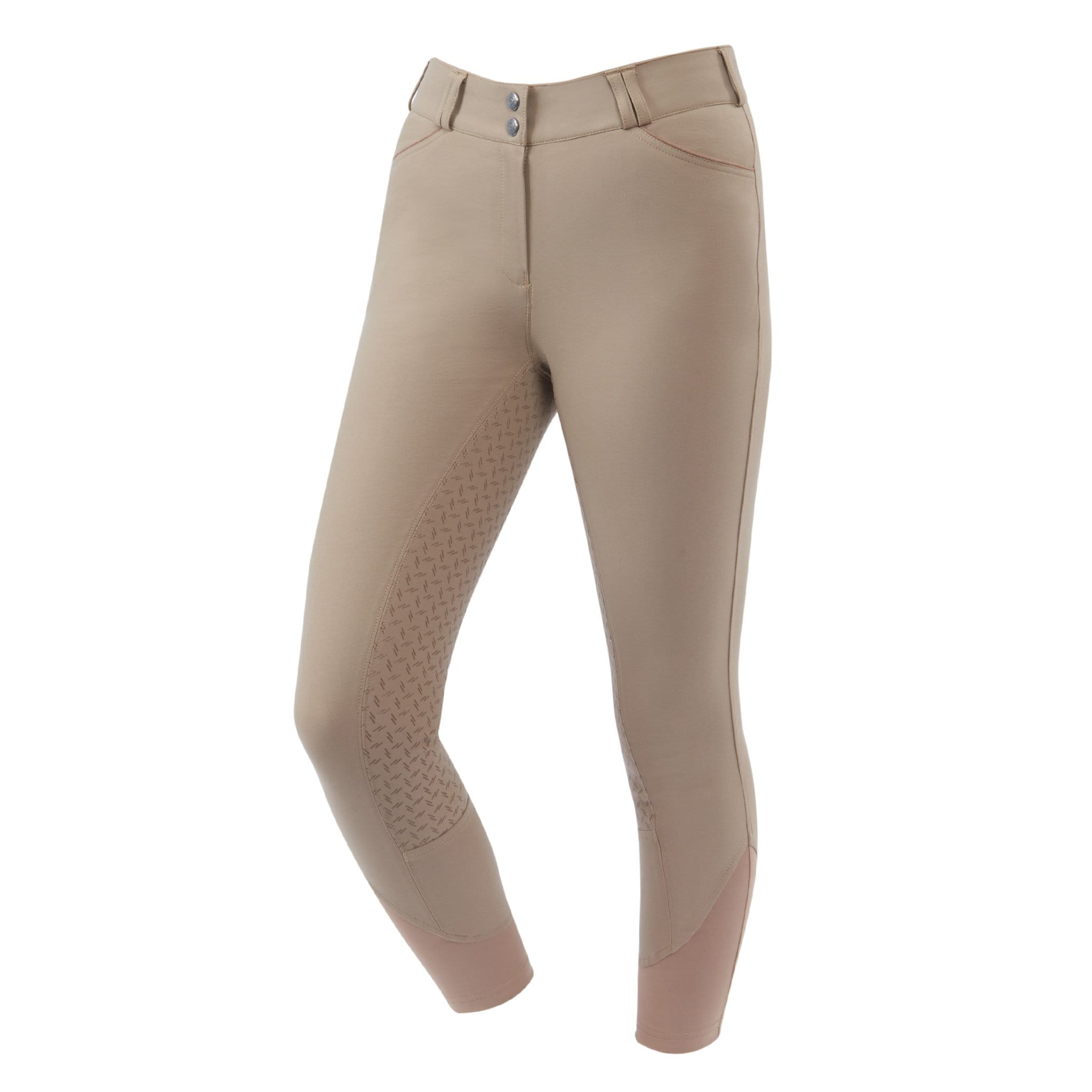 Dublin Prime Gel Silicone Full Seat Breeches 809838 Beige Front View