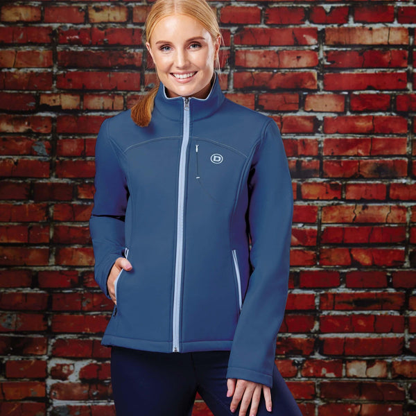 Dublin Sachi Jacket 819626 Navy and Powder Blue Front On Model