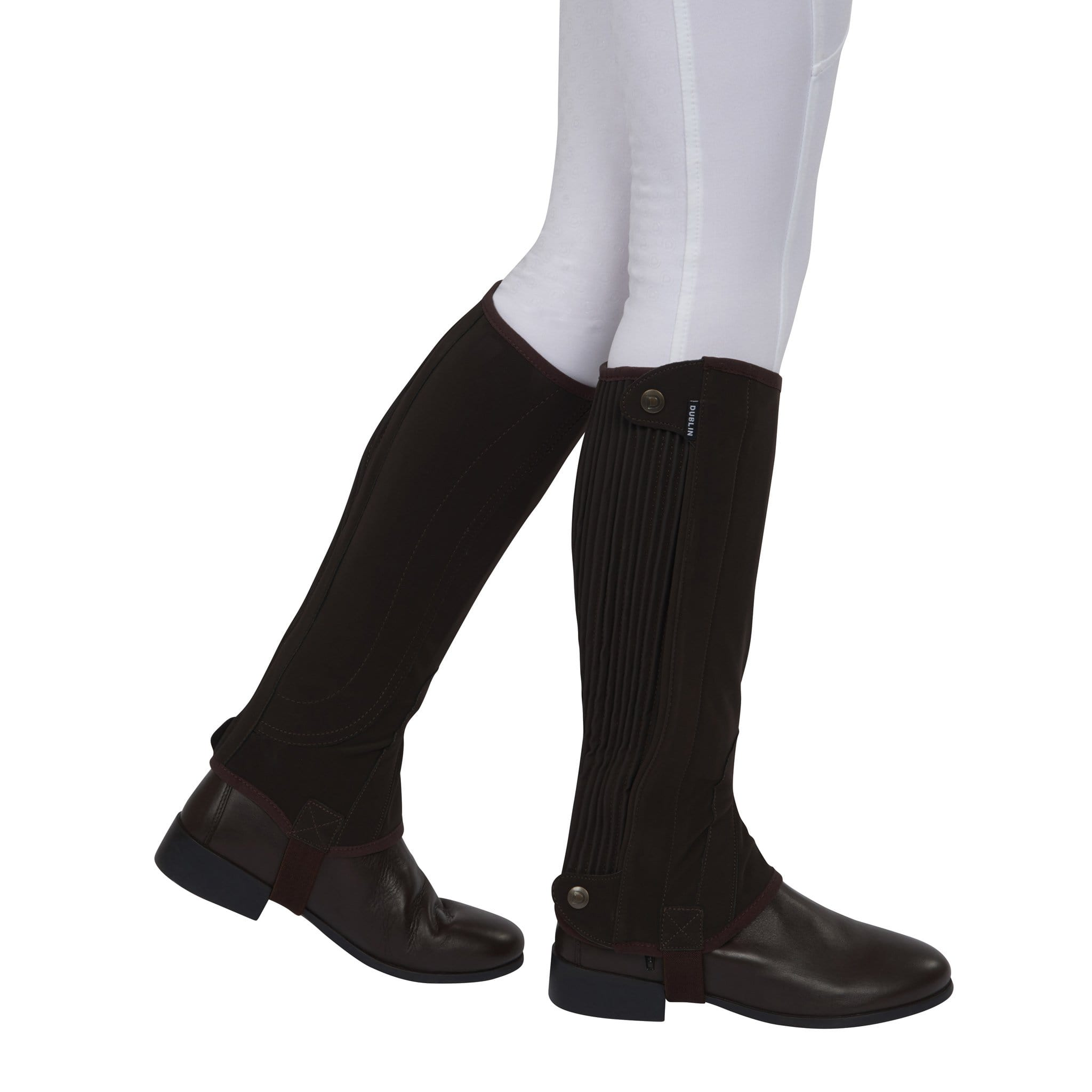 Dublin Children's Easy-Care Premier Half Chaps 807322 Brown