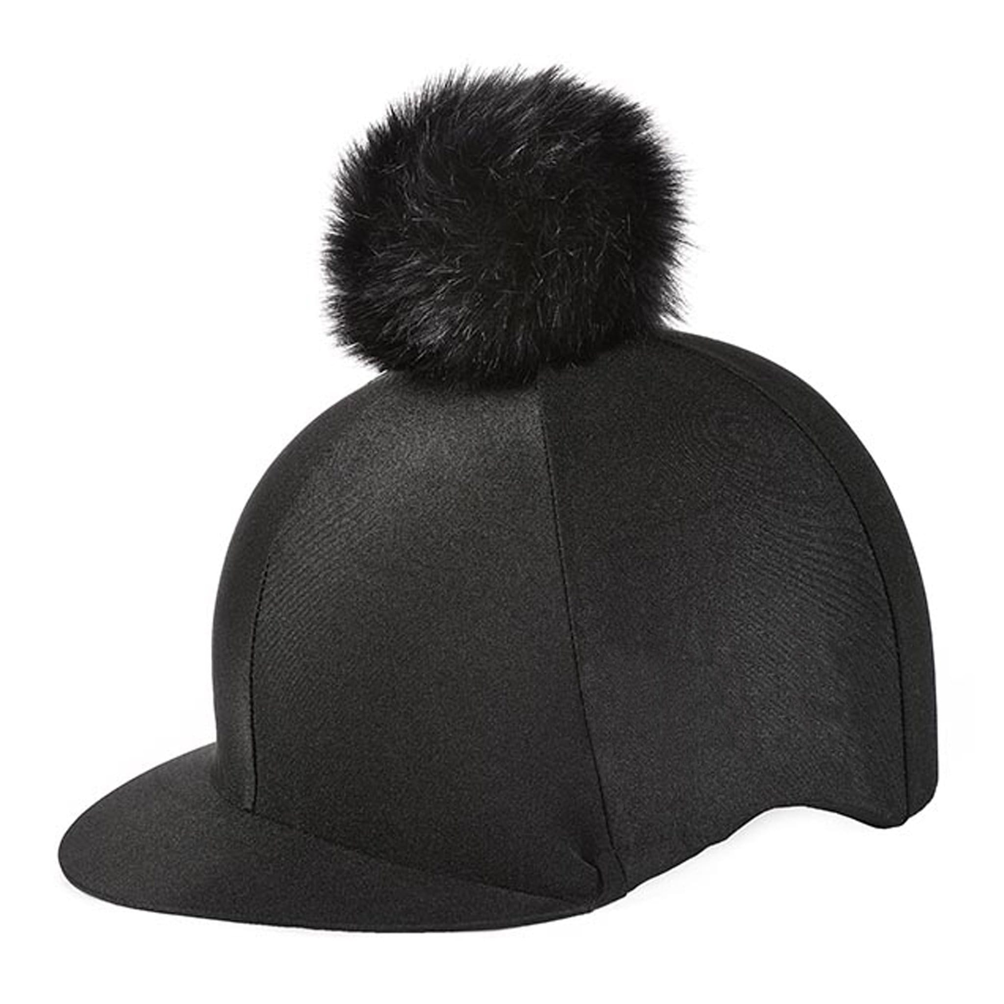 Elico Aberford Pom Pom Lycra Hat Silk Black