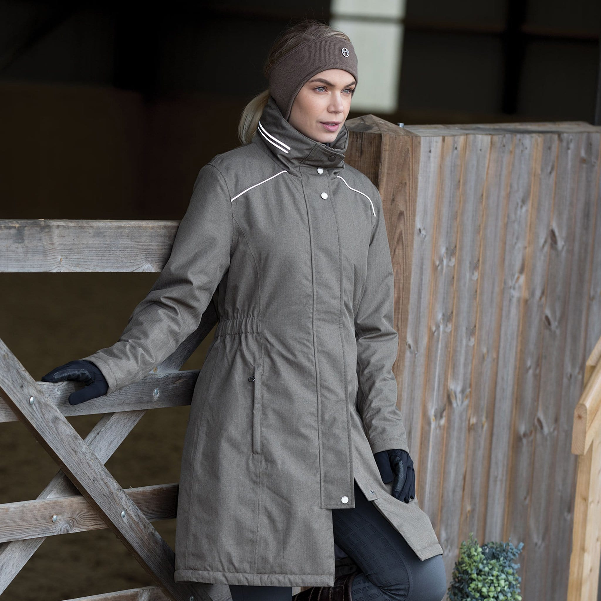 Equetech Rushmere Waterproof Coat RWC On Model By School
