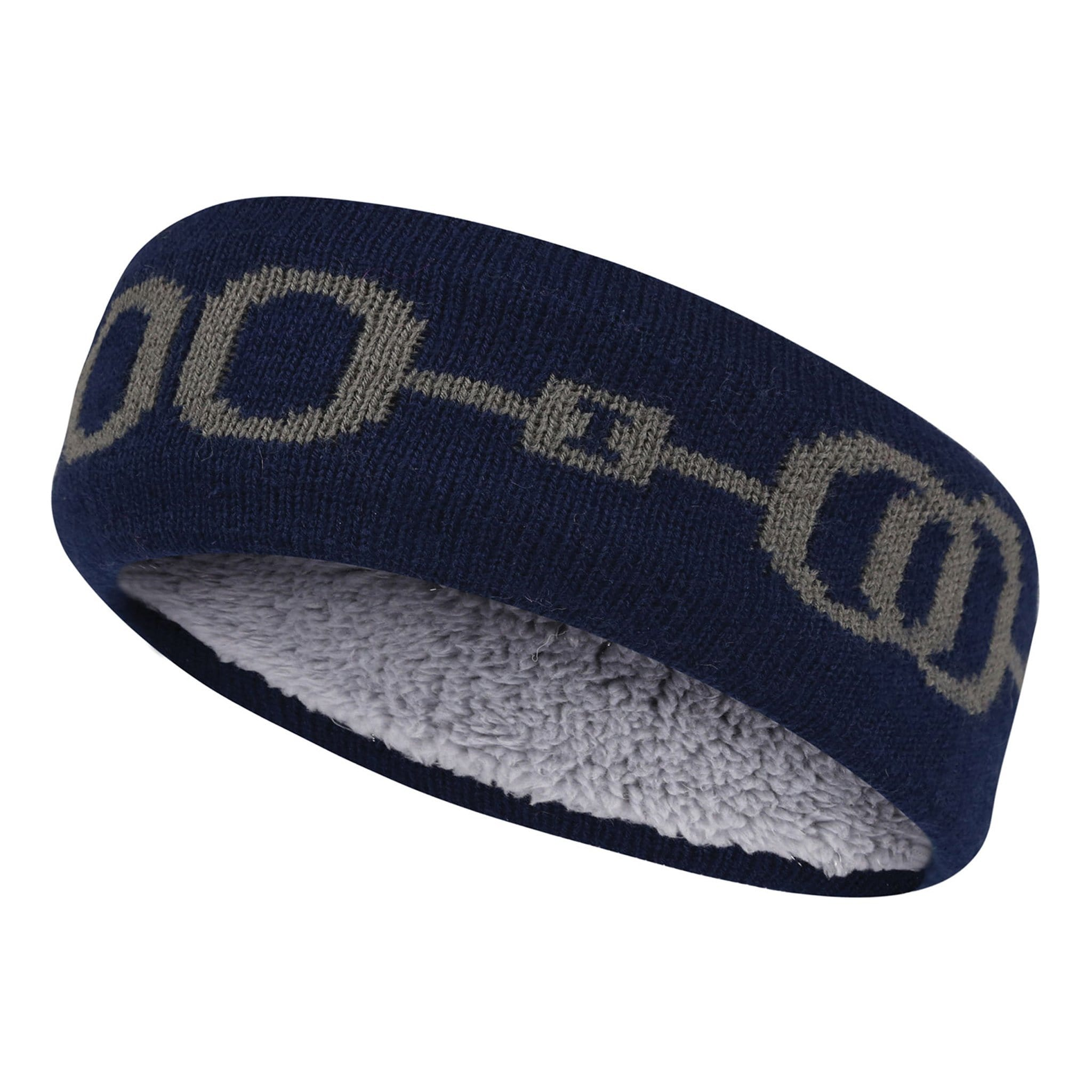 Equetech Horse Bit Knit Headband HBH Navy Side View