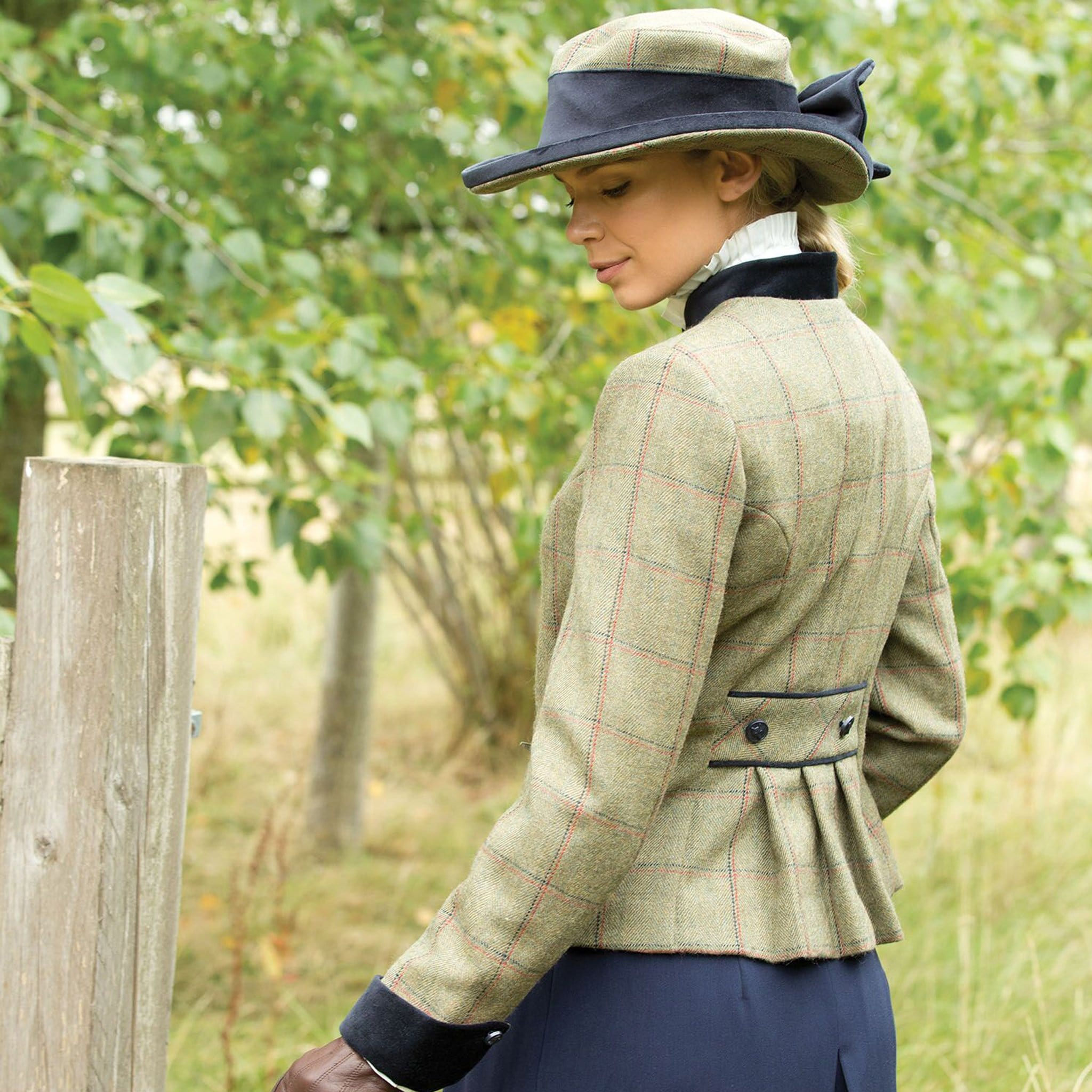 Equetech Launton Deluxe Tweed Lead Rein Jacket & Hat LLR Side