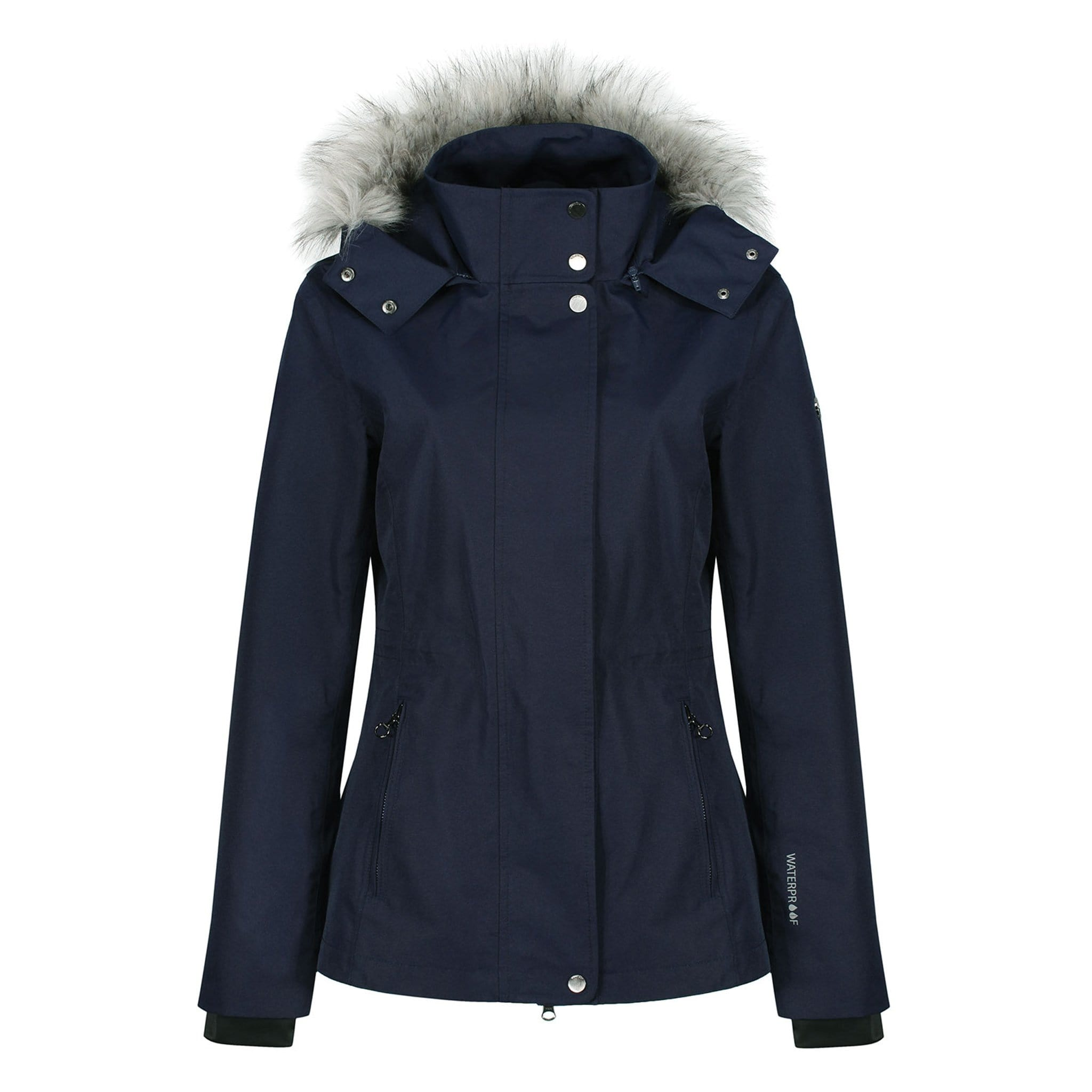 Equetech Moorland Waterproof Jacket MWJ Navy Front View