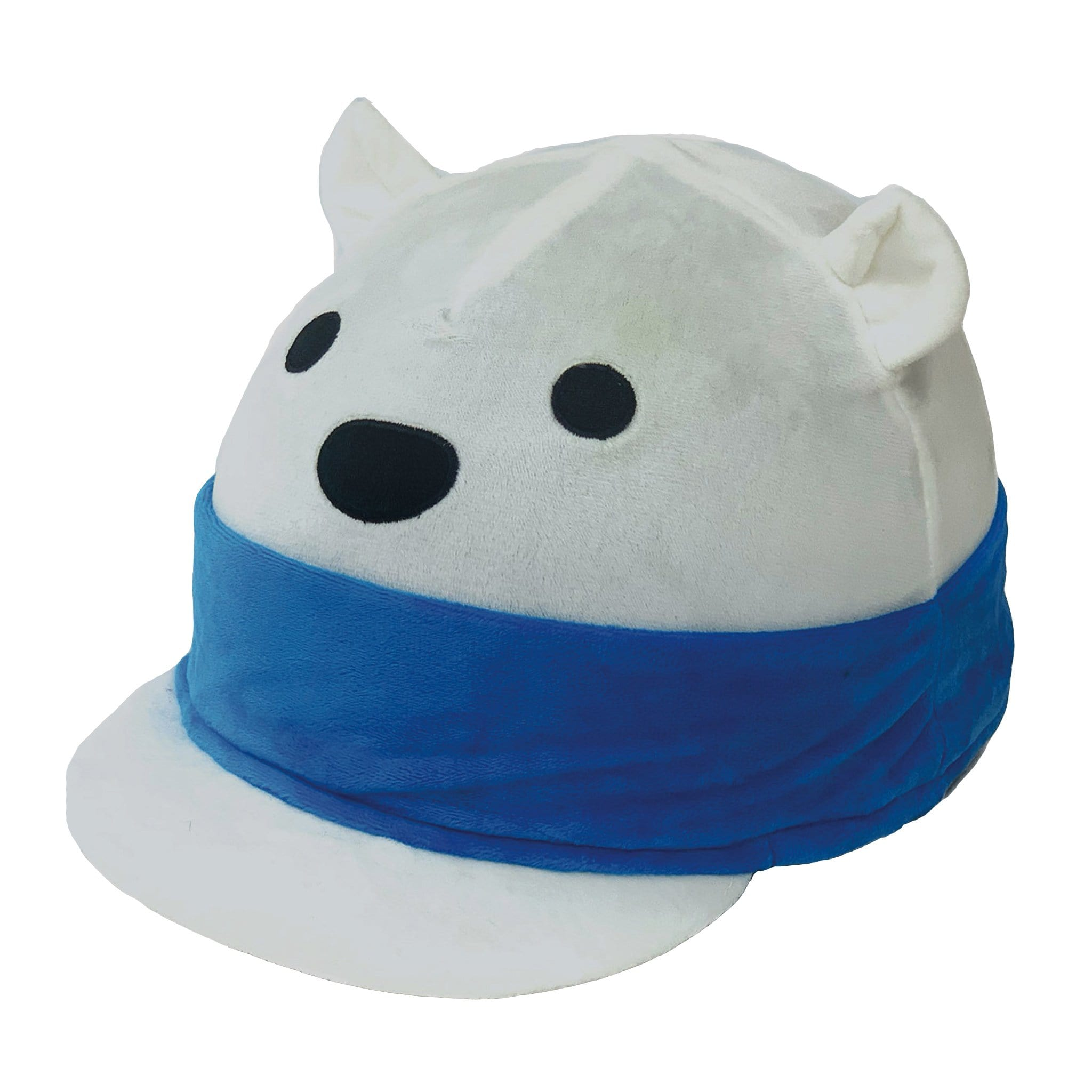 Equetech Children's Pierre Polar Bear Hat Silk BHS White Novelty Hat Cover