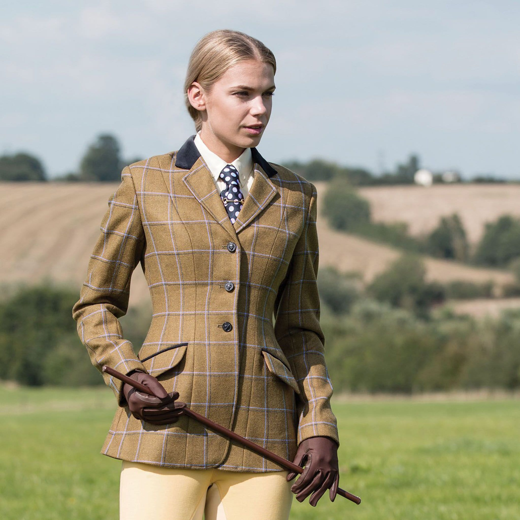 Equetech Studham Deluxe Tweed Riding Jacket STJ