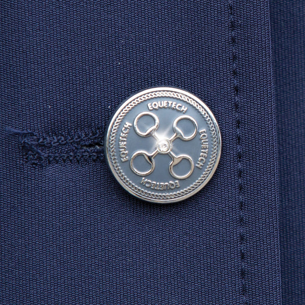 Equetech Ultima Quick-Change Dressage Coat Navy Equetech Crystal Button Detail