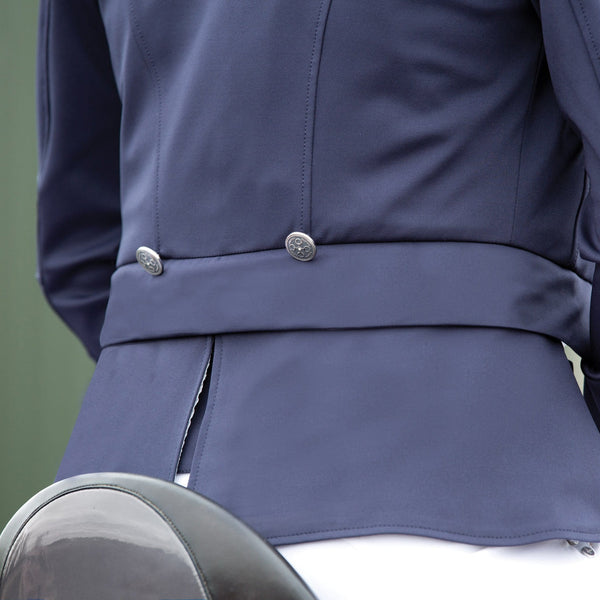 Equetech Ultima Quick-Change Dressage Coat Navy Jacket Back