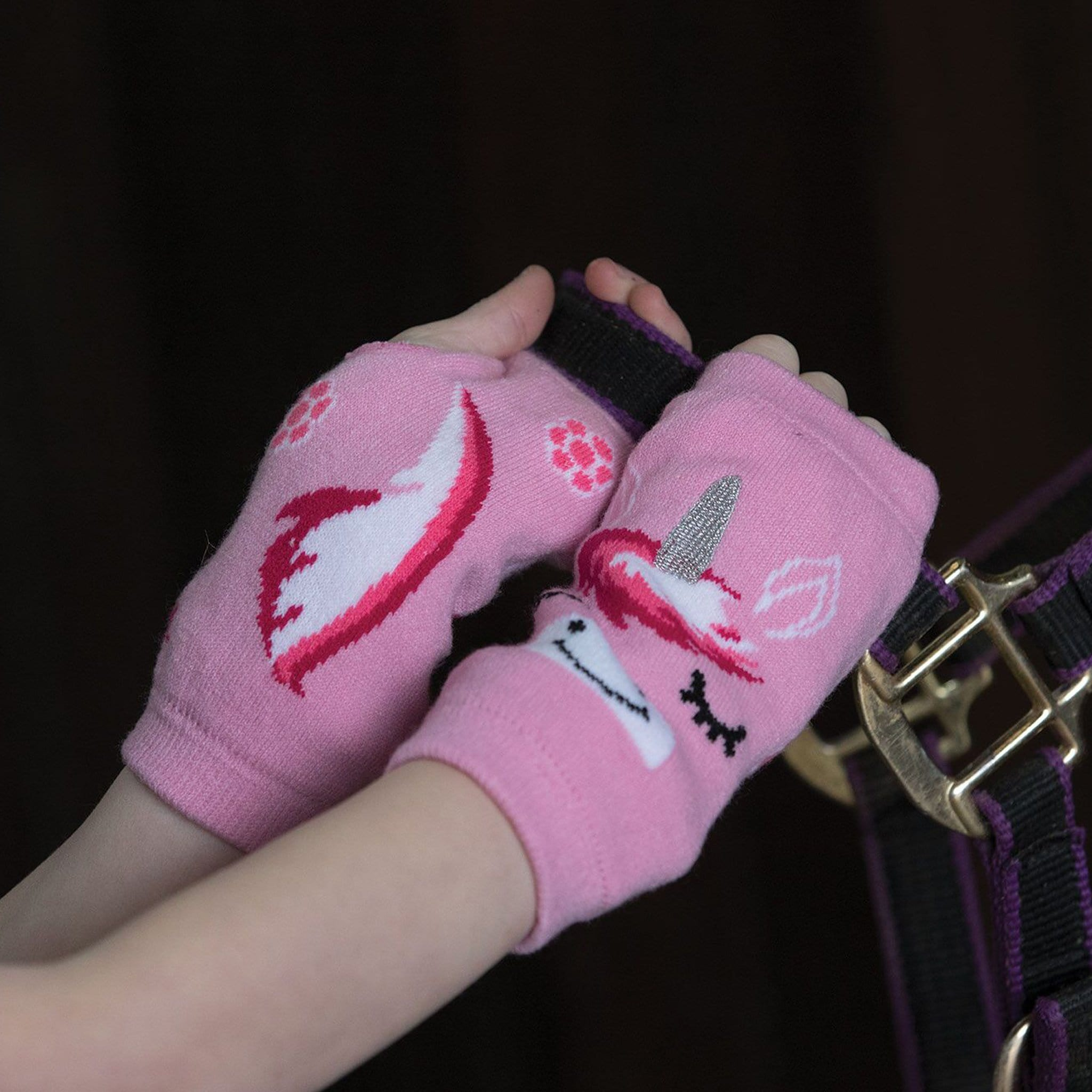 Equetech Children's Unicorn Fingerless Gloves UFG
