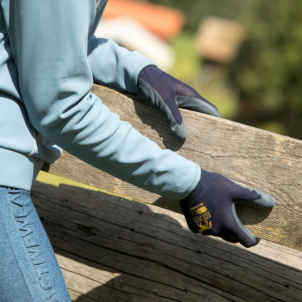 LeMieux Equine Work Gloves Lifestyle Navy Fence 6608