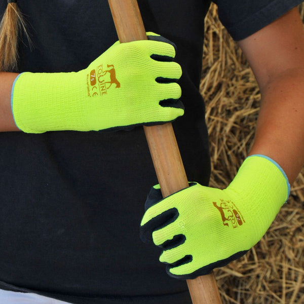 LeMieux Equine Work Gloves Lifestyle Broom Yellow 6608