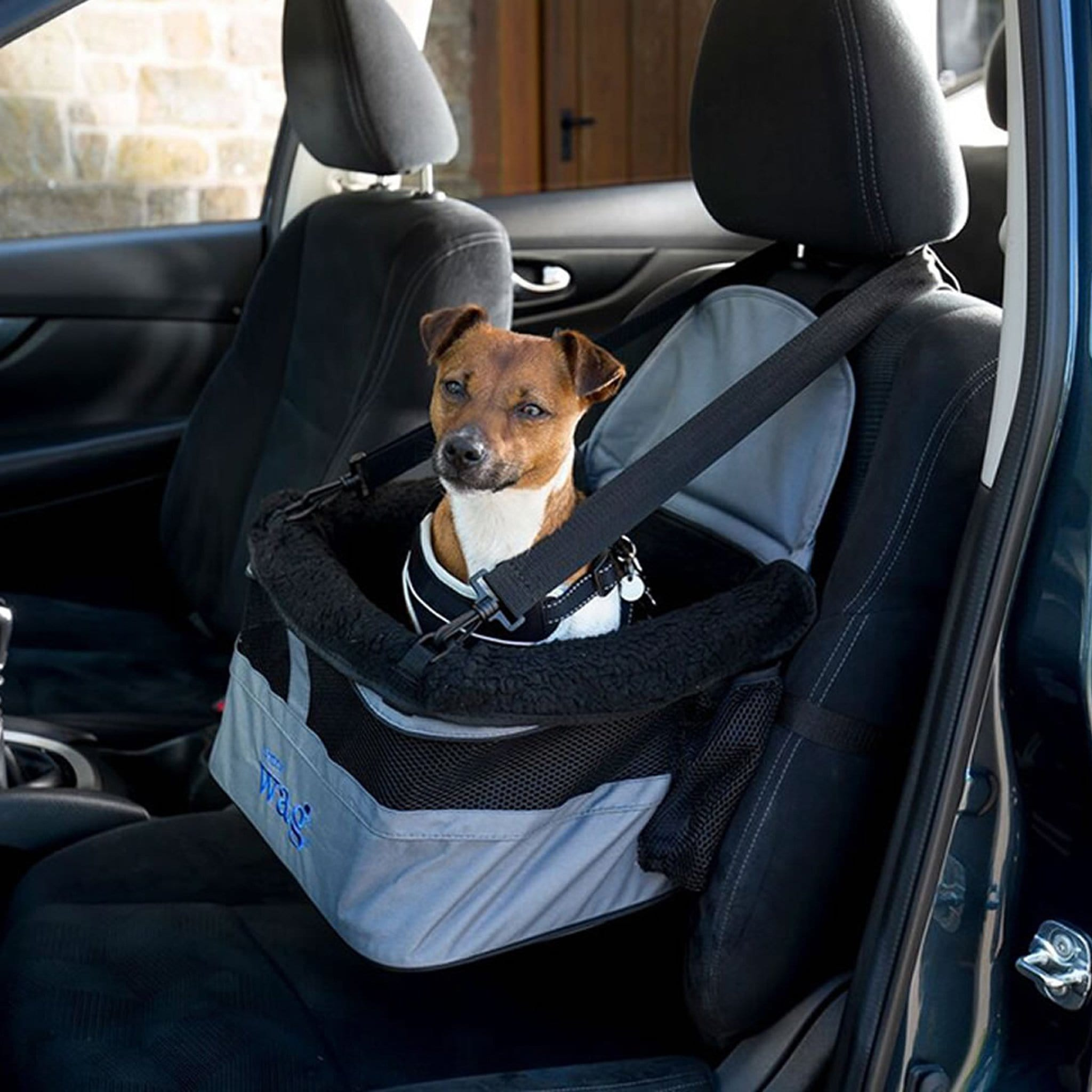 Henry Wag Dog Car Booster Seat Grey and Black HWG0020