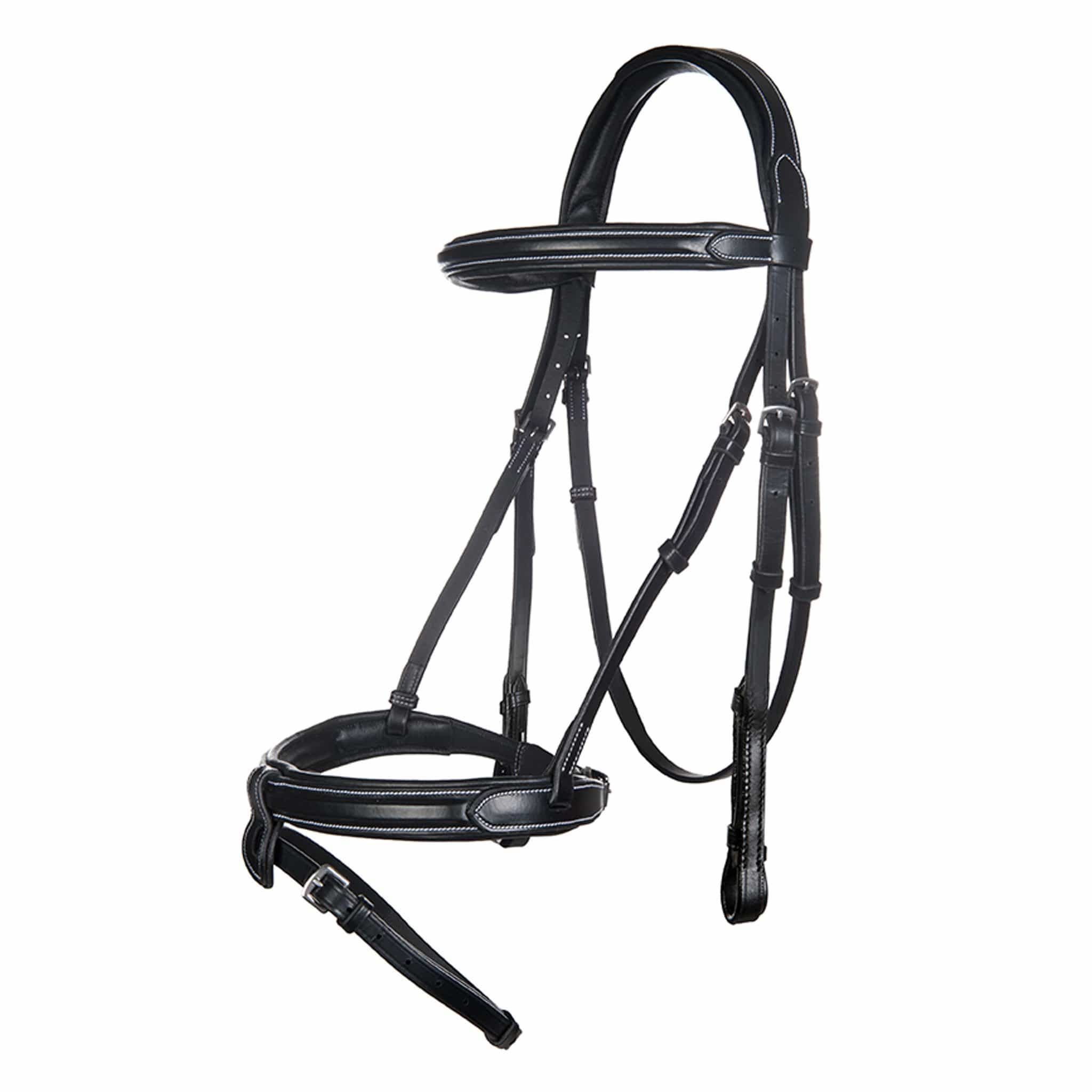 HKM Charlotte II Bridle With Gel Padding 11173 Black Full Bridle