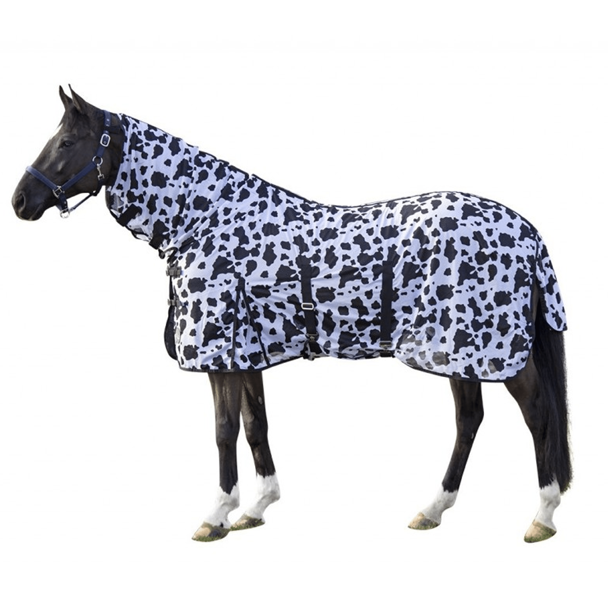 HKM Cow Print Fly Rug 12449