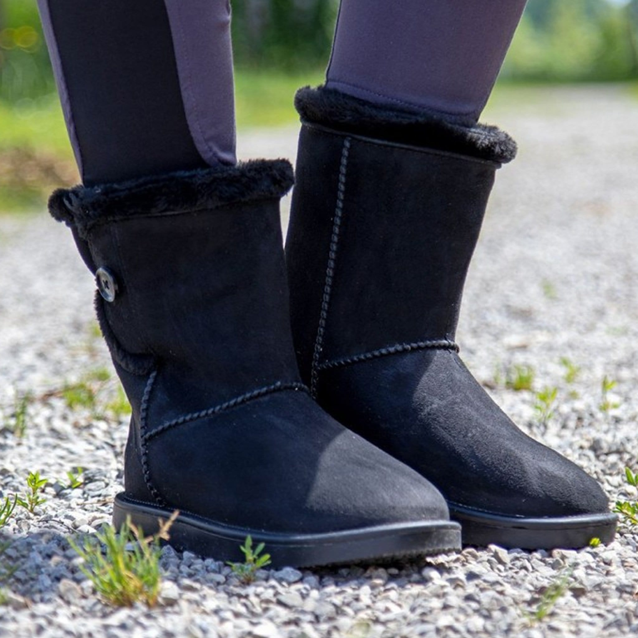 HKM Davos All Weather Fur Boots Black 12563