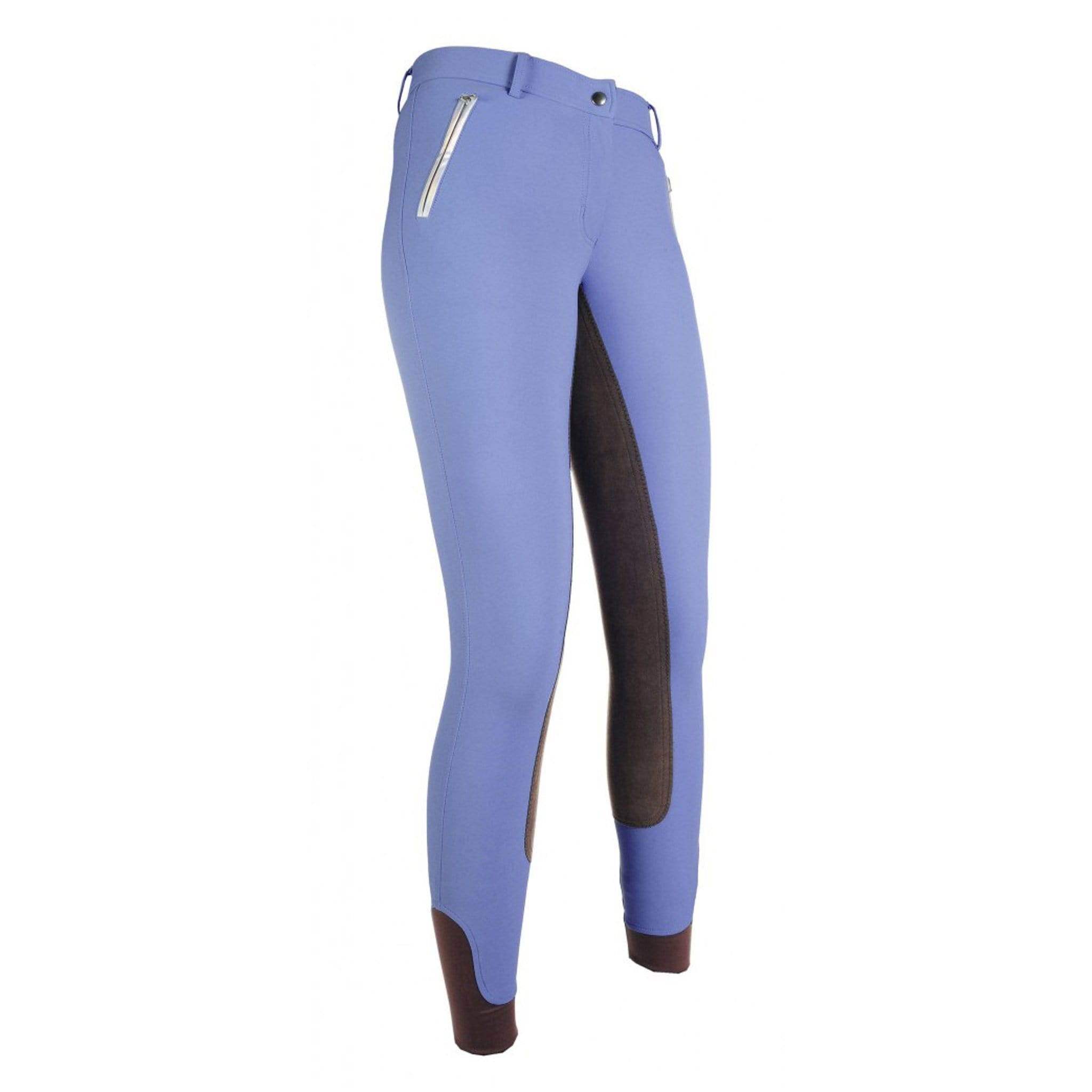 HKM Diamonds LIZ Milky Alos Full Seat Breeches 10326 Smokey Blue Front