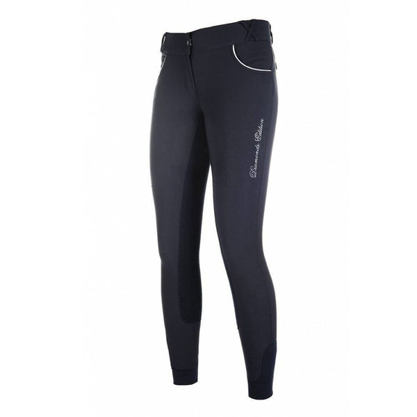 HKM Diamond Shine Alos Full Seat Breeches 10099 Deep Blue Front