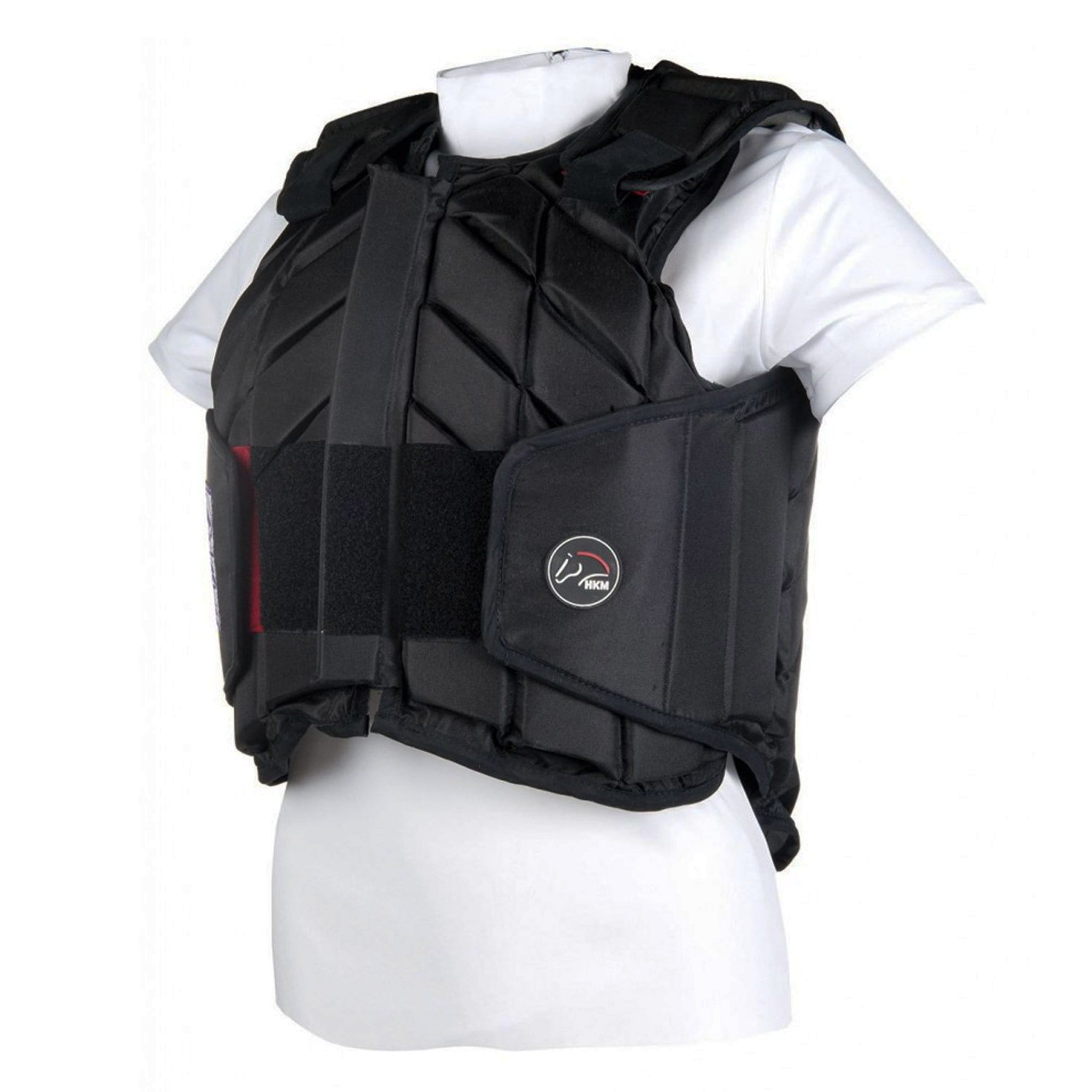 HKM Easy Fit Body Protector 10783 Black Side View
