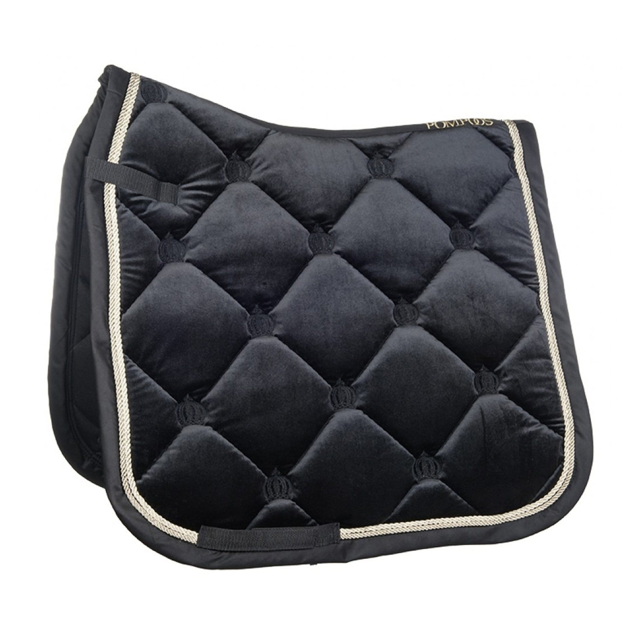 HKM Glööckler Pompöös Goldenline Velvet Saddle Cloth 11426