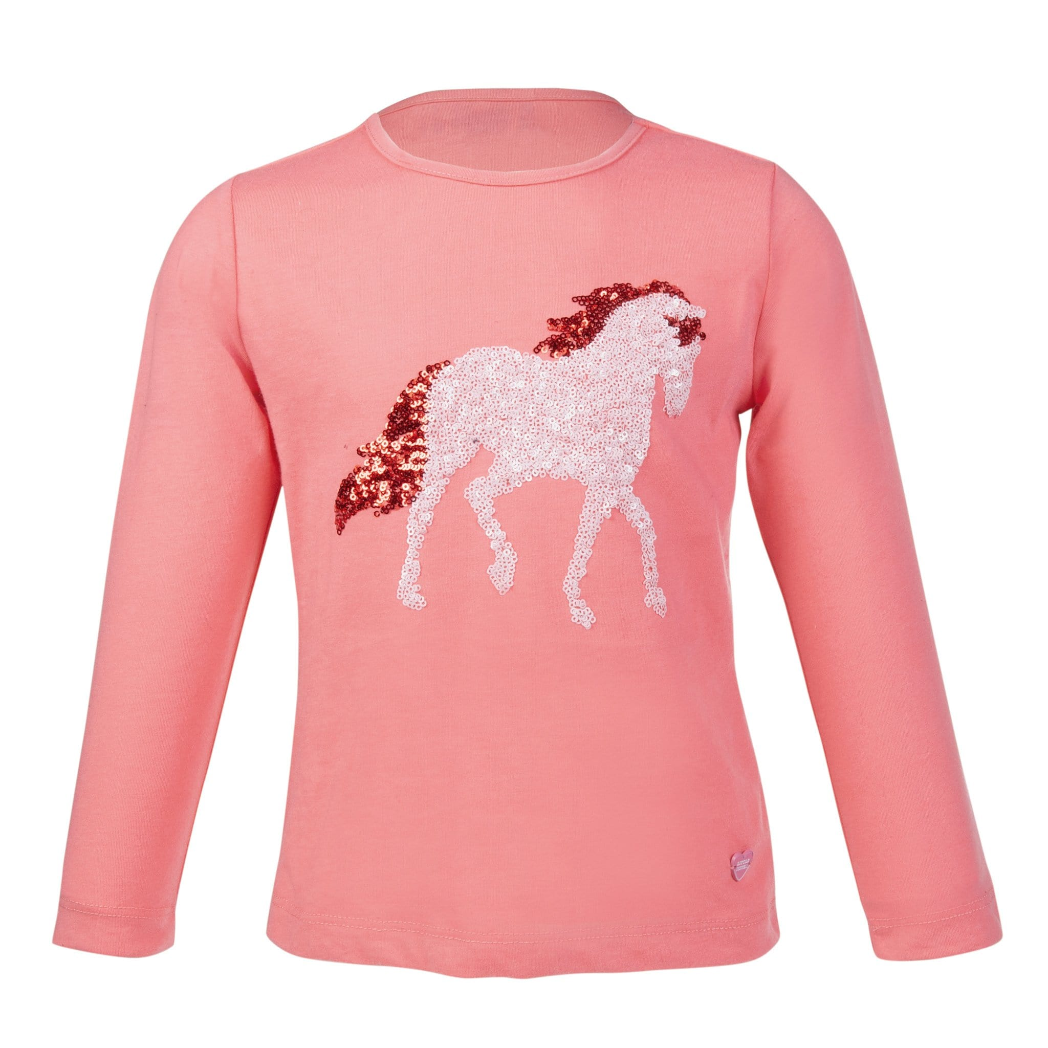 HKM Julia Children's Long Sleeve Top 11076 Pink Front