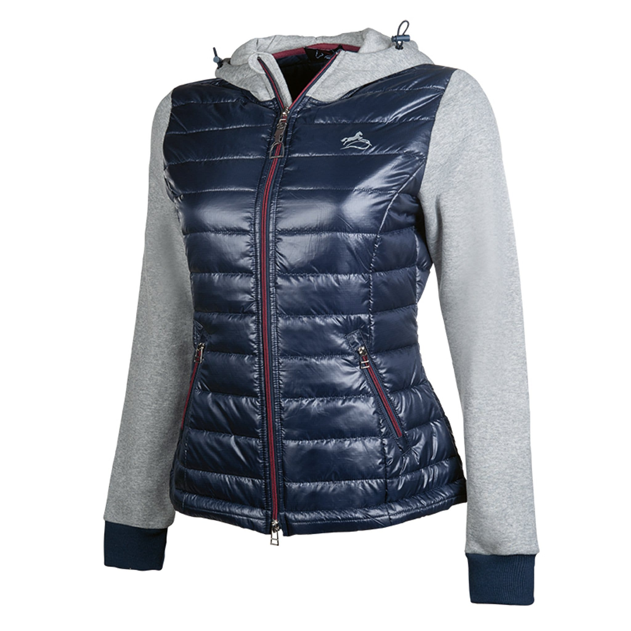 HKM Lauria Garrelli Morello Sweat Jacket 11954 Indigo Blue and Grey Front Side View
