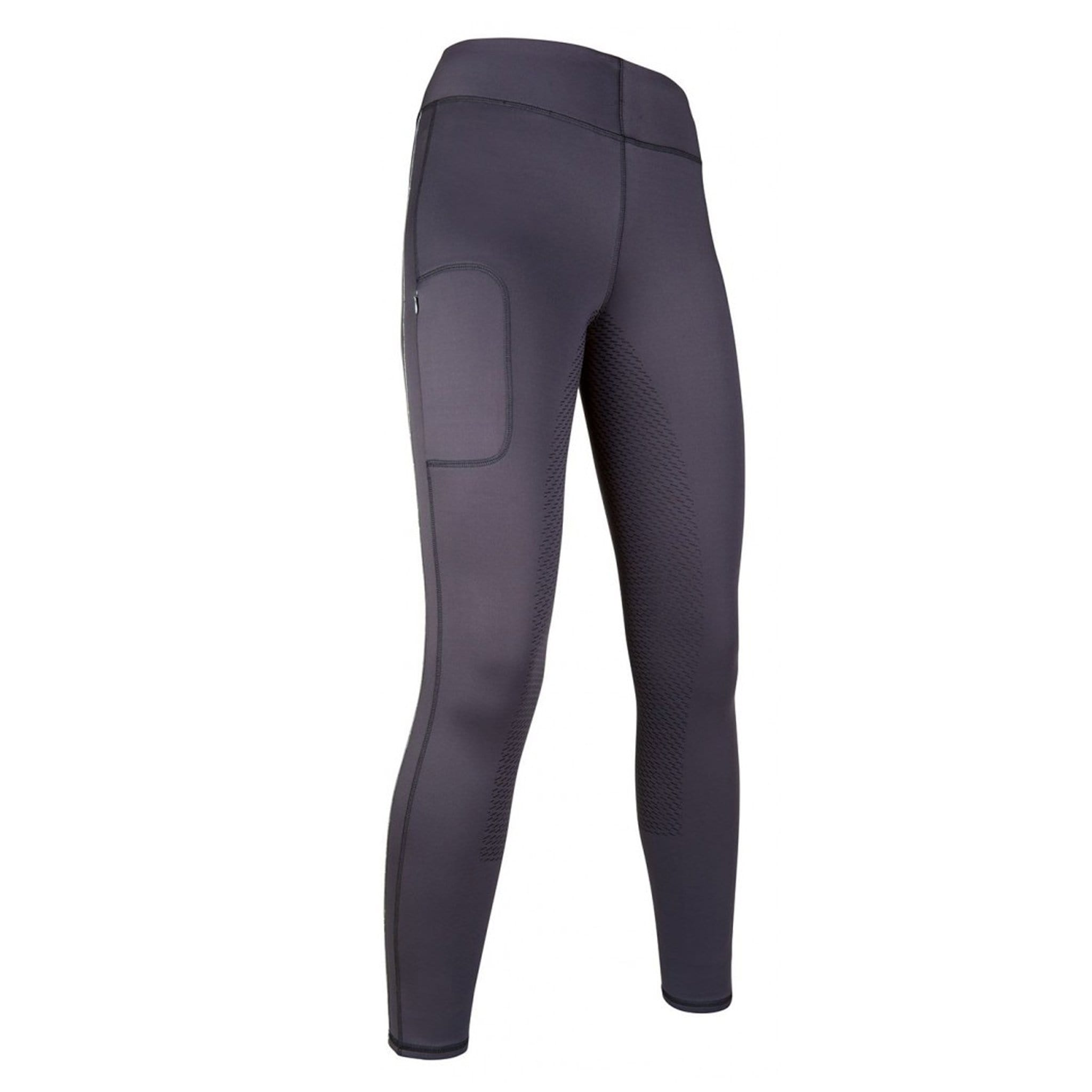 HKM Mondiale Silicone Full Seat Riding Tights 11325 Dark Blue-Grey Front