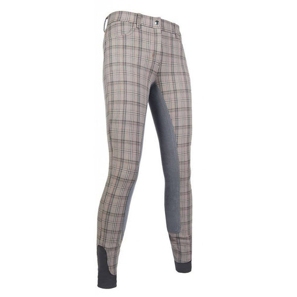 HKM Reithose Classico Alos Full Seat Jodhpurs 10445 Taupe and Deep Grey Front Right