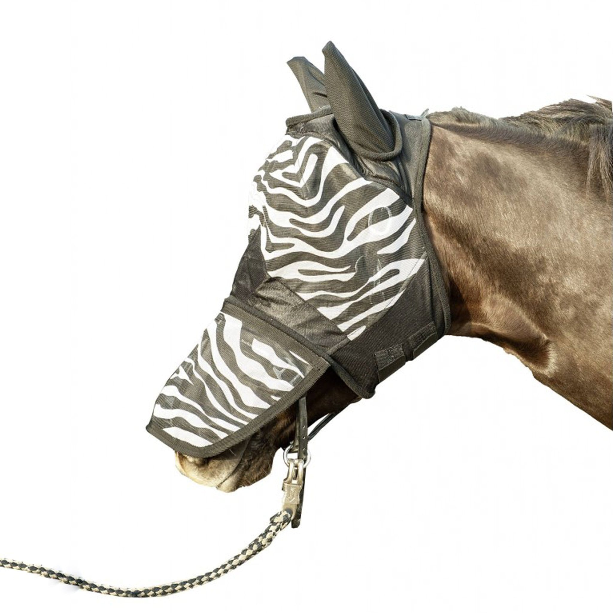 HKM Zebra Print Anti Fly Mask 5269