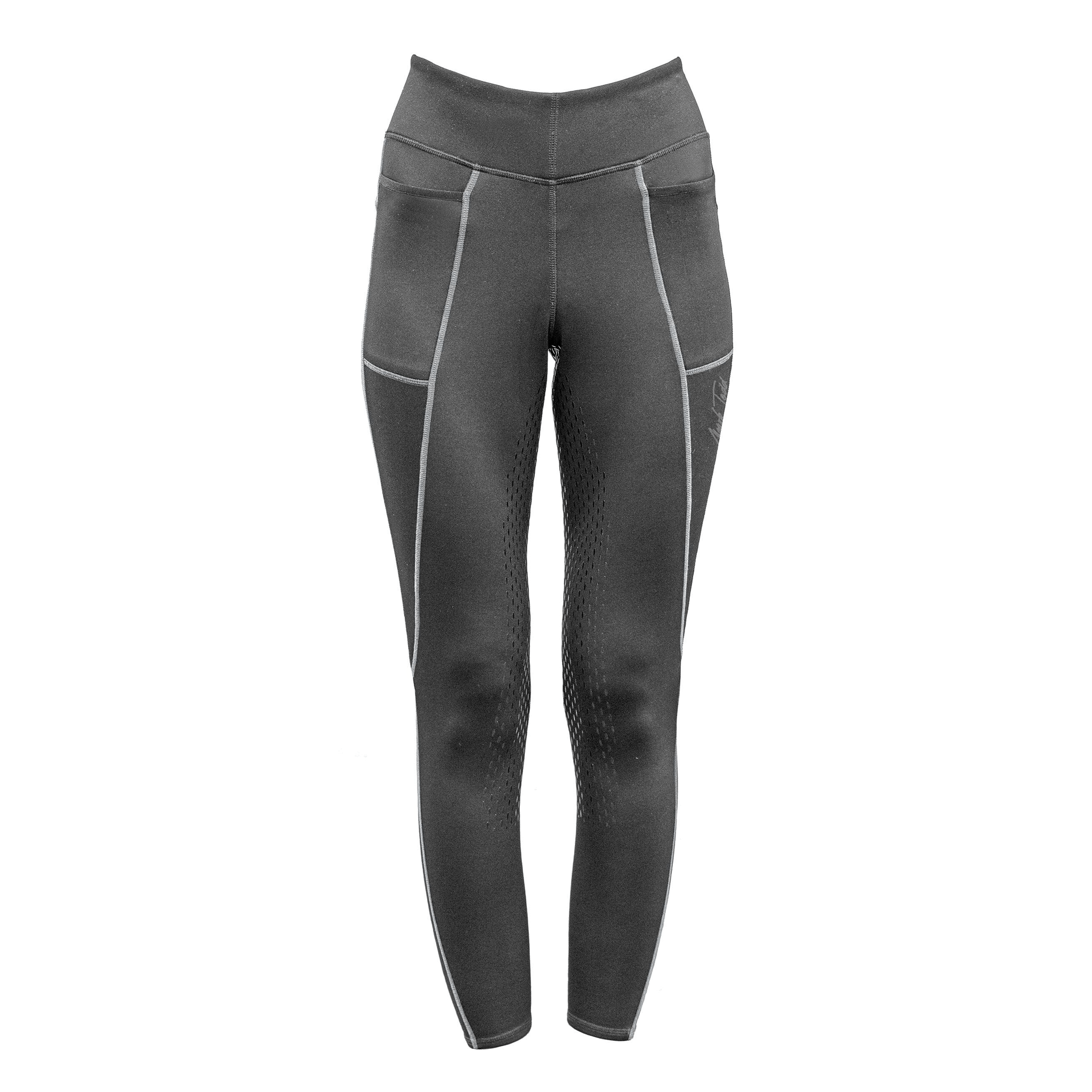 Mark Todd Winter Silicone Full Seat Riding Tights 692214 Grey