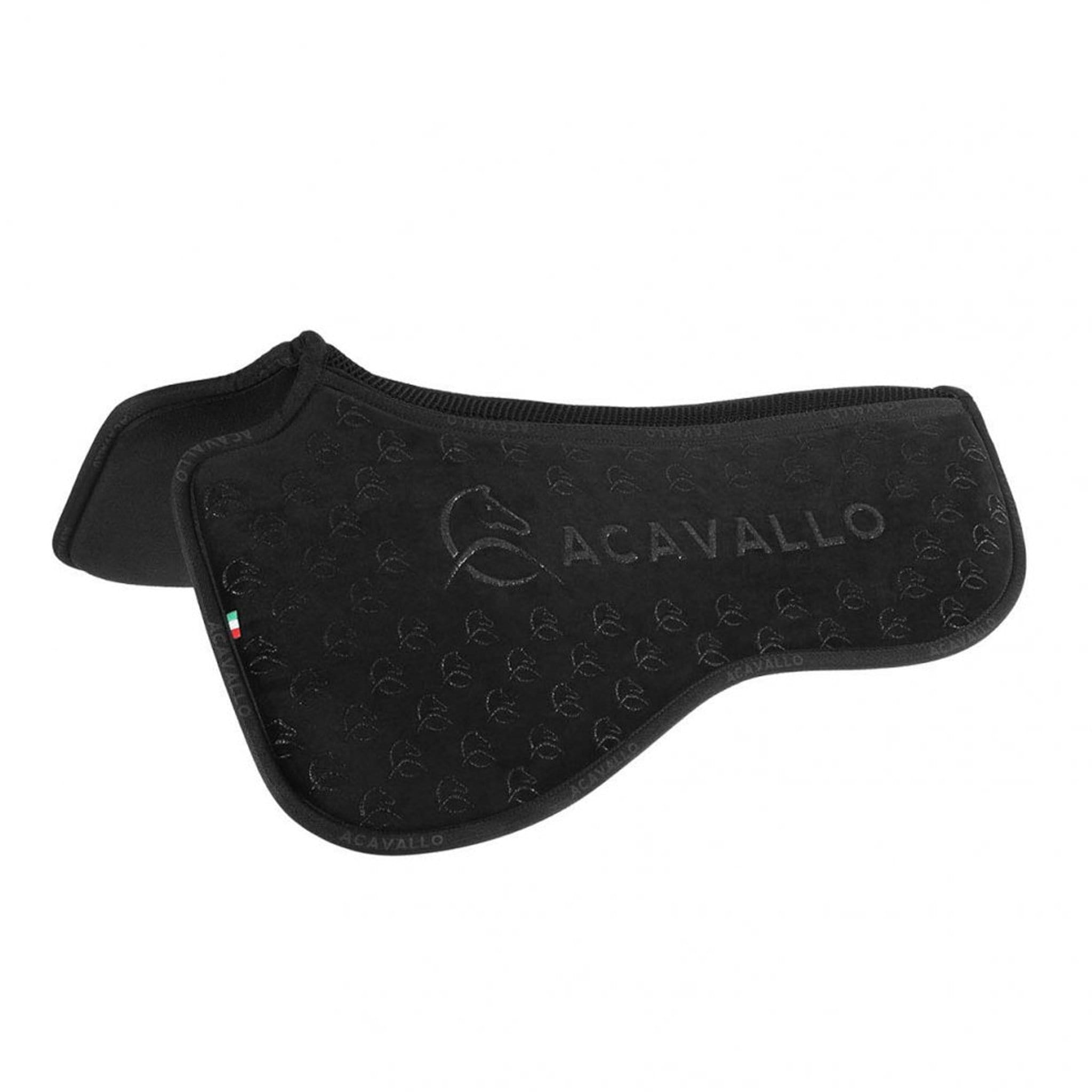 Acavallo Louvre Spine Free Silicone Memory Dressage Half Pad Black 4243