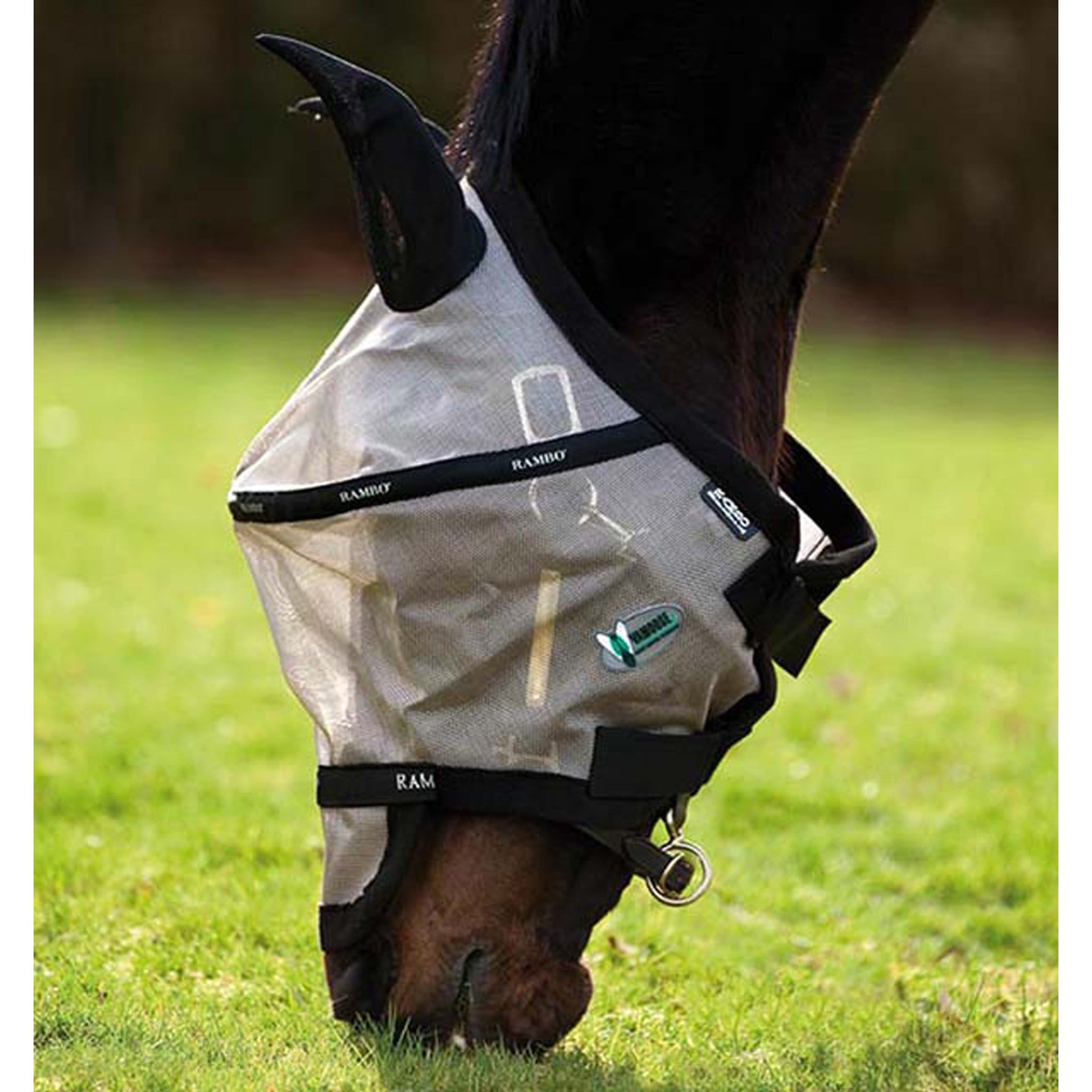 Rambo Plus Vamoose® Fly Mask DMAF14 Oatmeal and Black