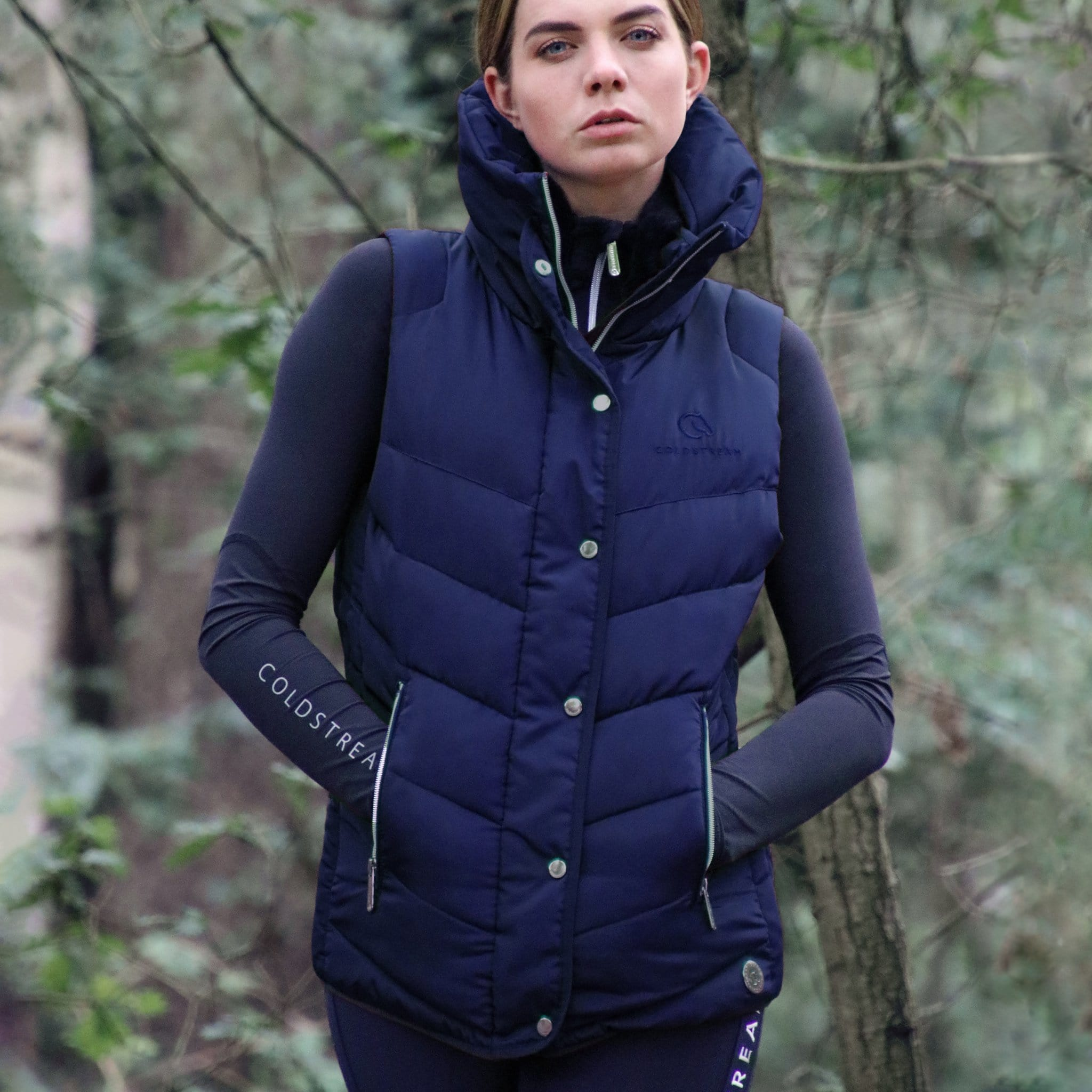 Coldstream Kimmerston Quilted Gilet 24132 Navy On Model Front View