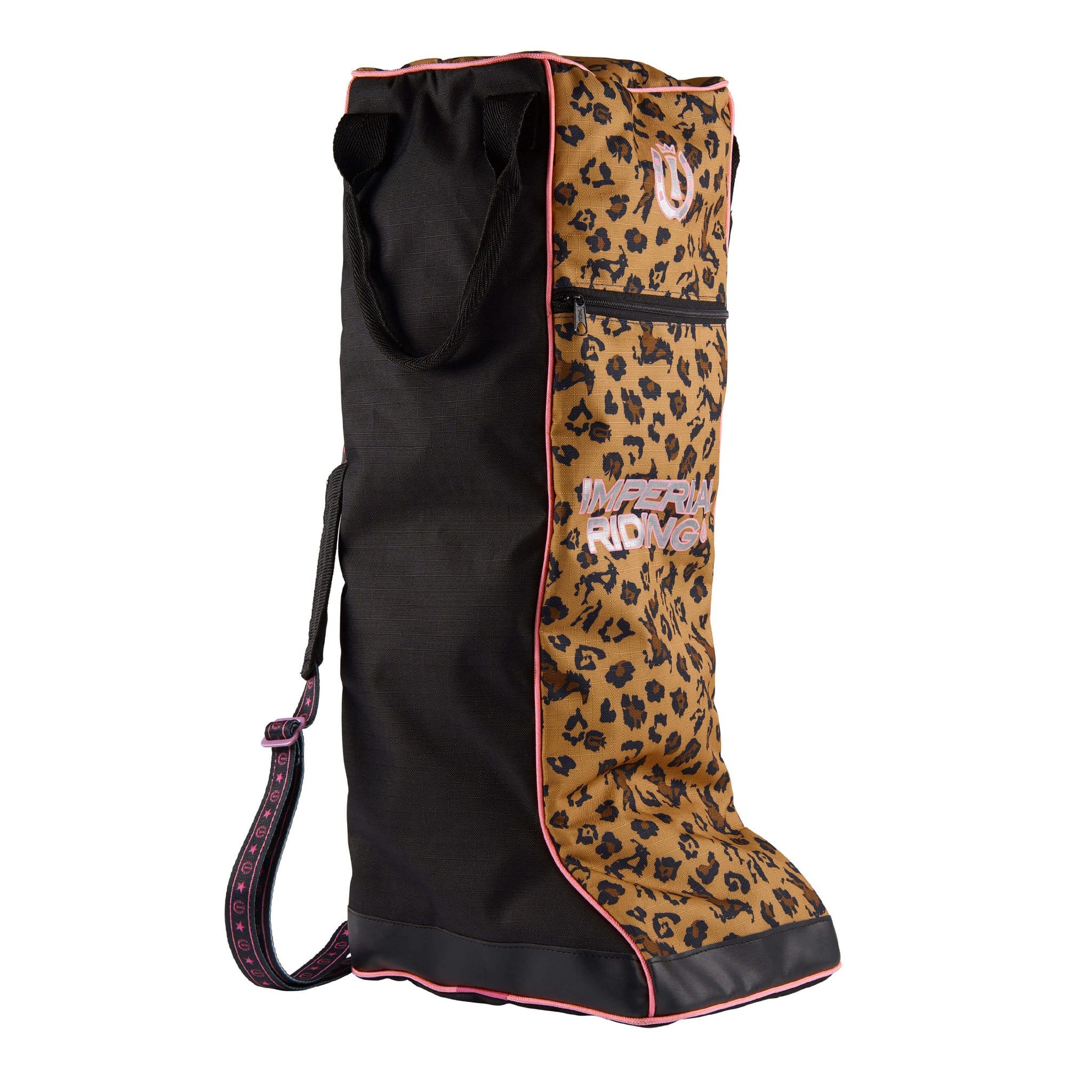 Imperial Riding Beautifully Wild Boot Bag Leopard Print LA90120000