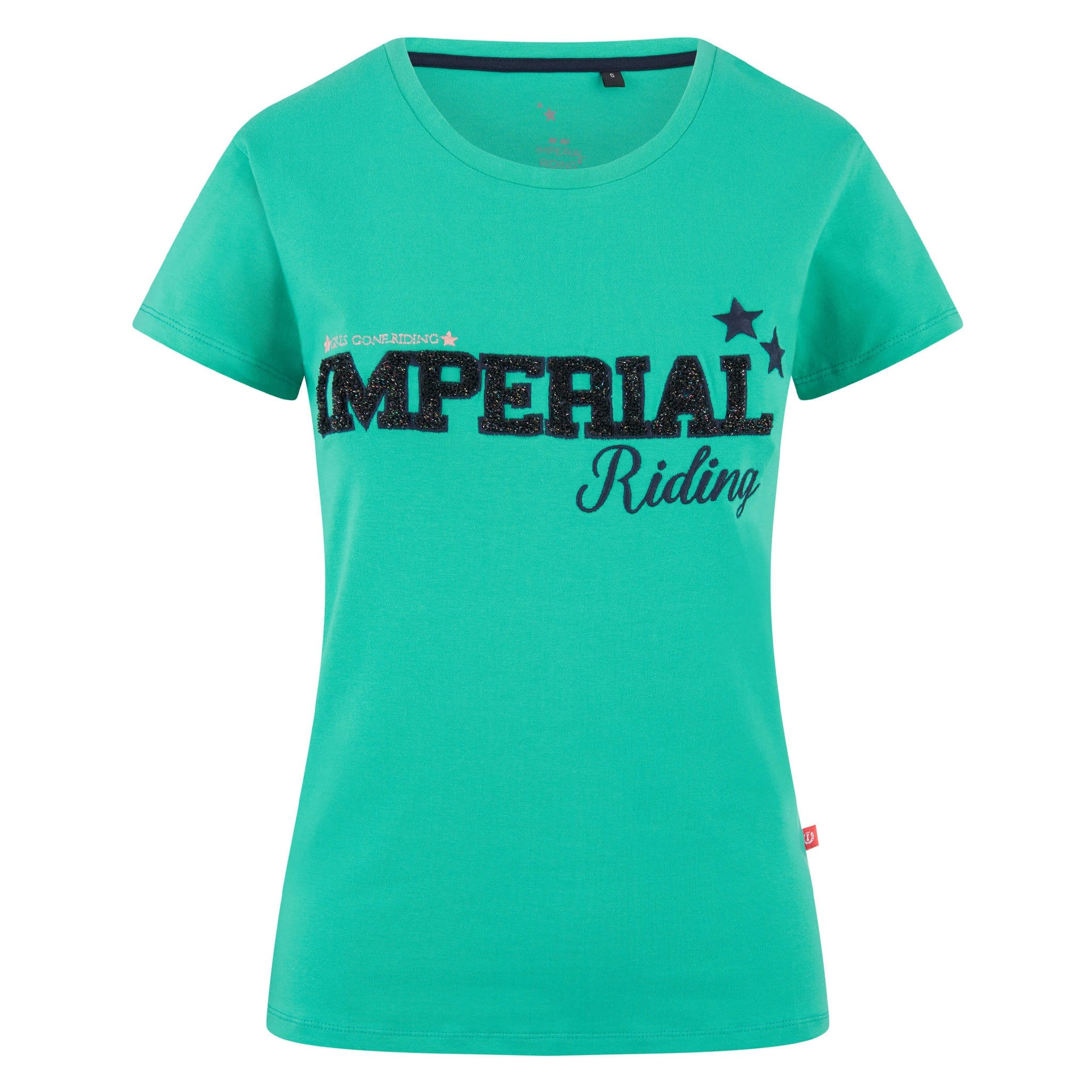 Imperial Riding Fancy 2 Short Sleeve T-Shirt KL35219001 Jade Green With Navy Embroidery