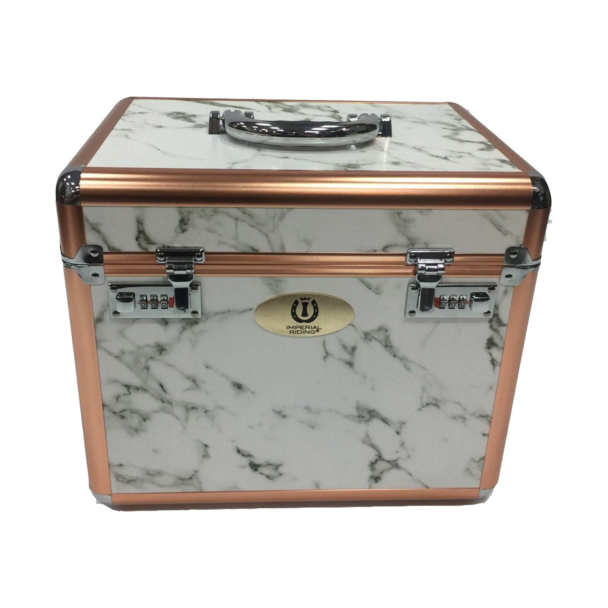 Imperial Riding Shiny Grooming Box Marble Rose Gold ST68120002