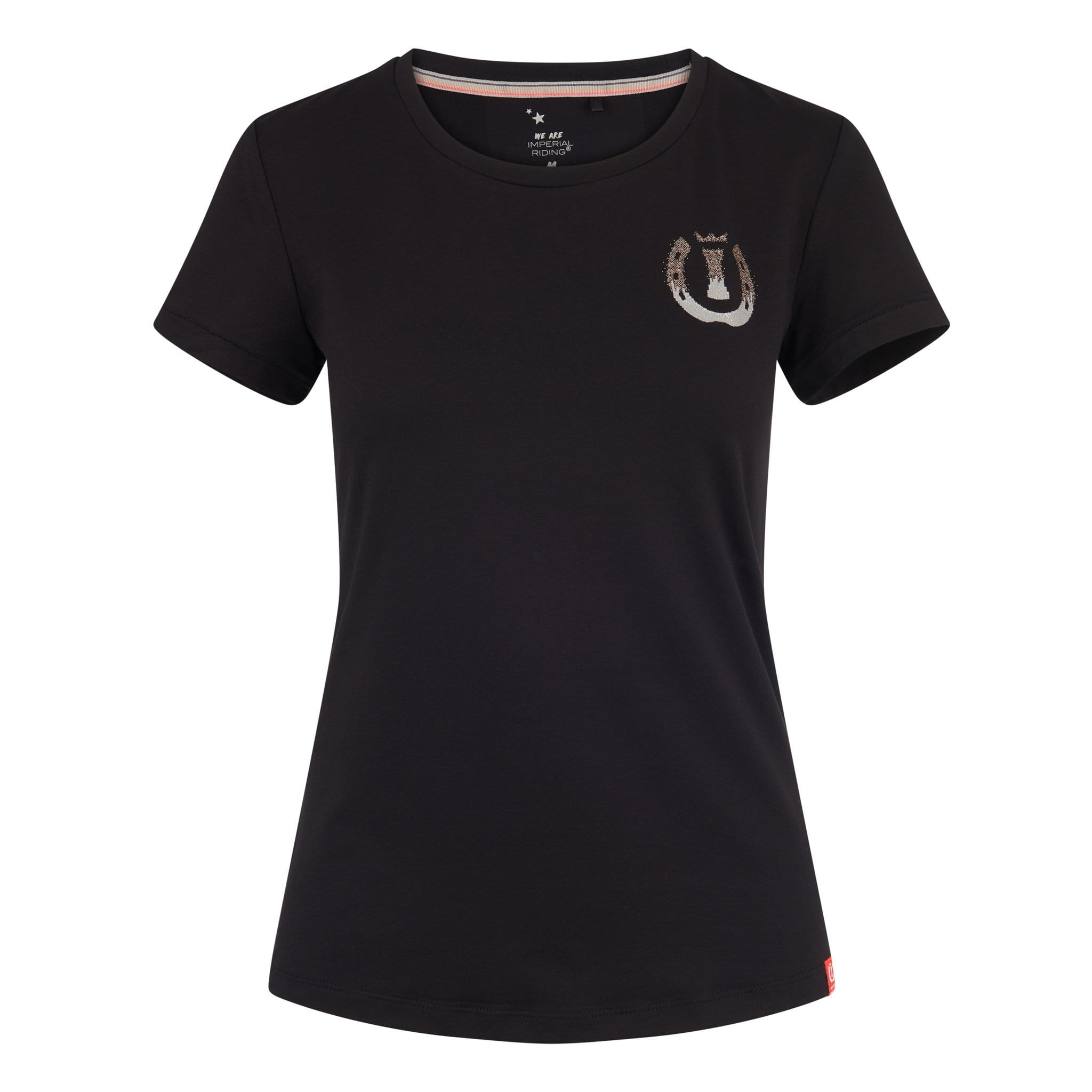 Imperial Riding Let's Play Short Sleeve T-Shirt KL35119013 In Black With Rose Gold Logo