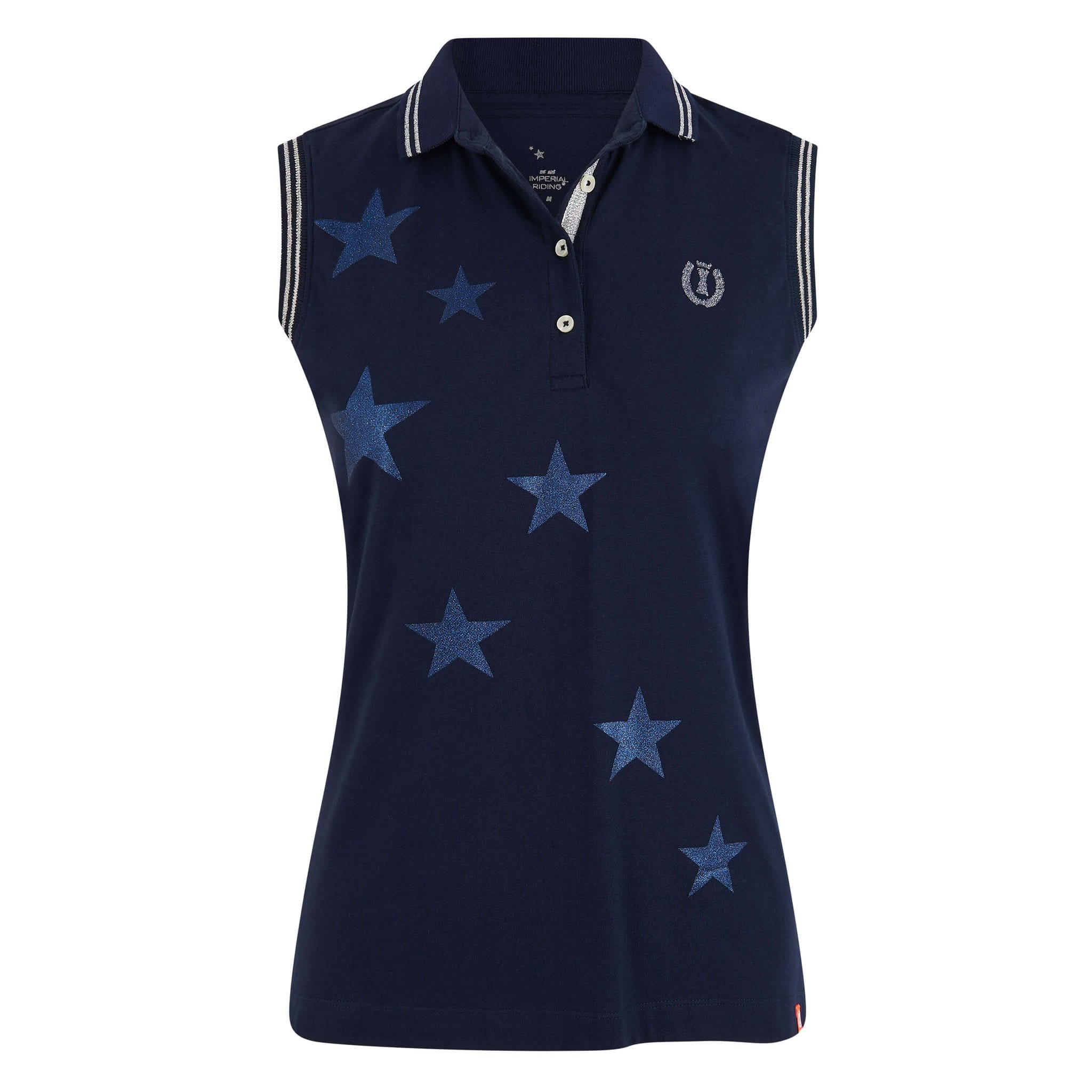 Imperial Riding Stardust Sleeveless Polo Shirt KL35120023 Navy Front