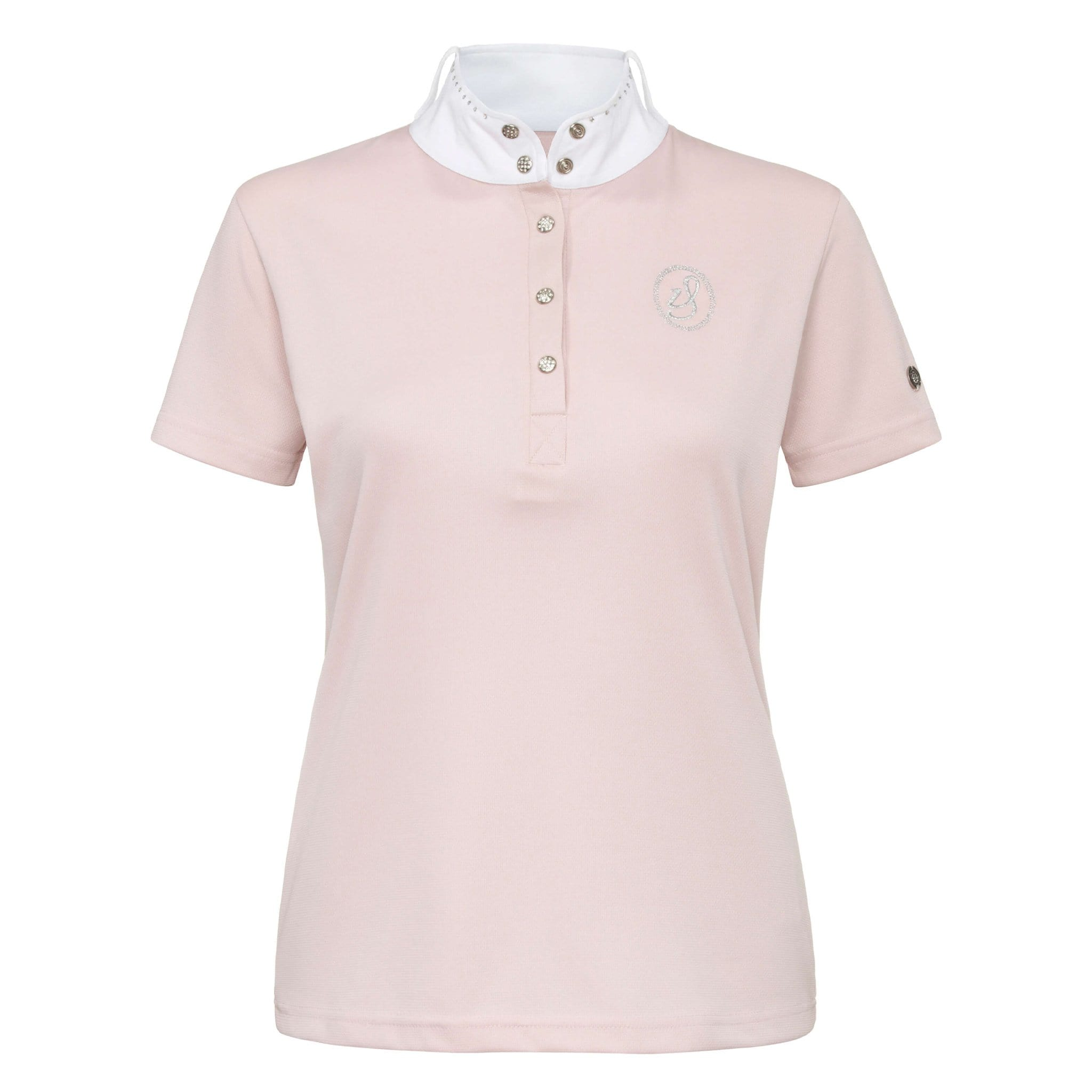 Imperial Riding Starlight Short Sleeve Show Shirt KL35000000 Rose Pink Front View