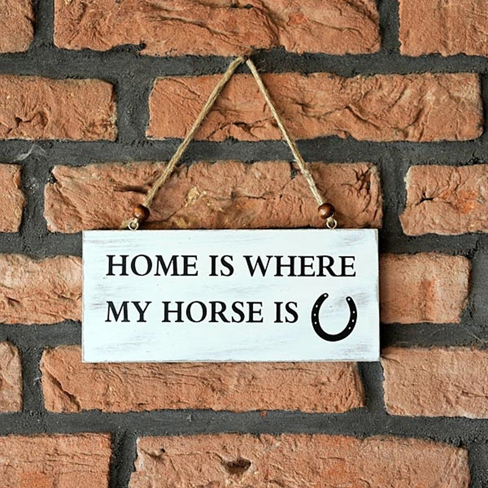 Wooden Home and Horse Sign
