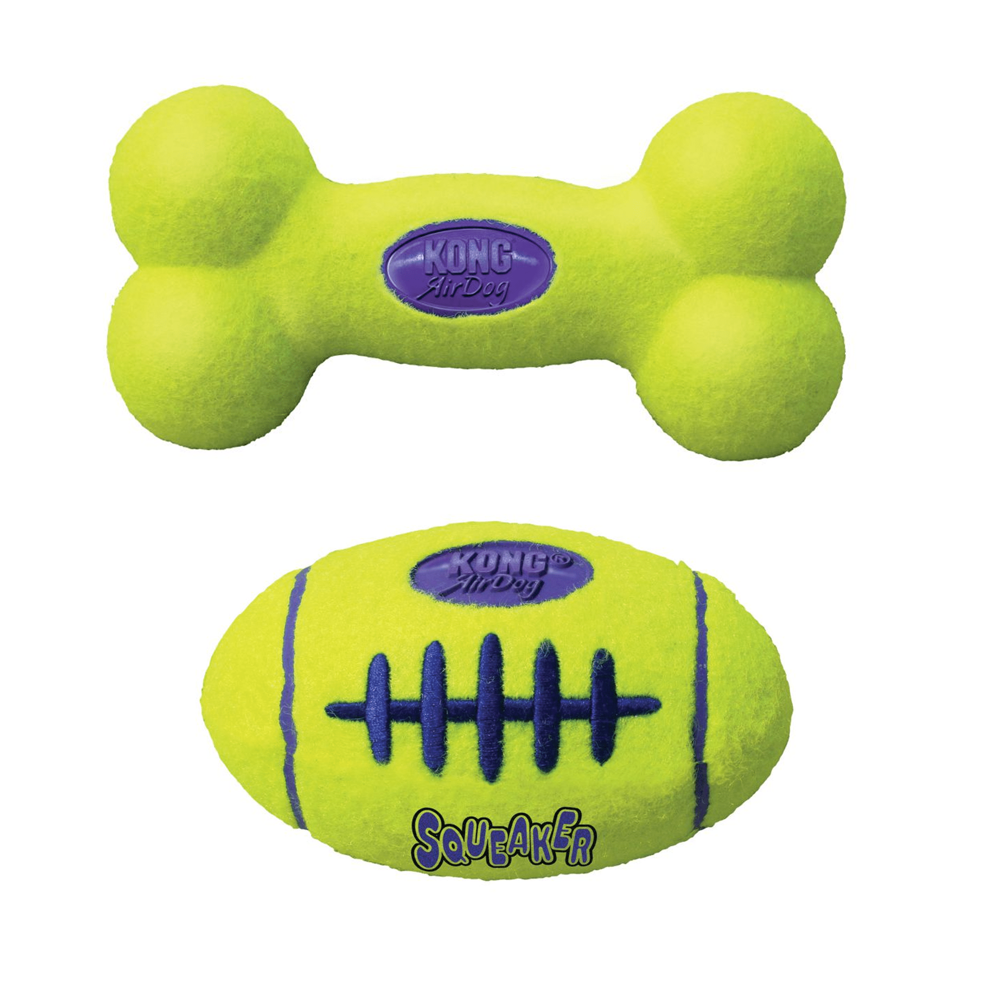 Kong AirDog Squeaker Bone Football KON0015