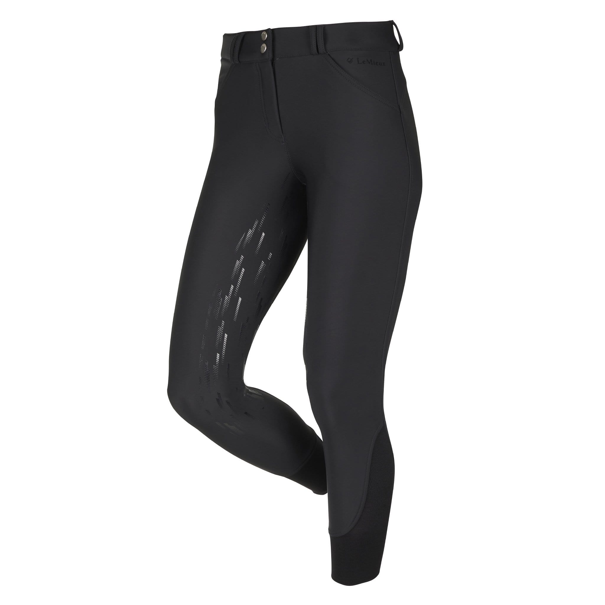 LeMieux Drytex Waterproof Silicone Full Seat Breeches 5528 Black Front