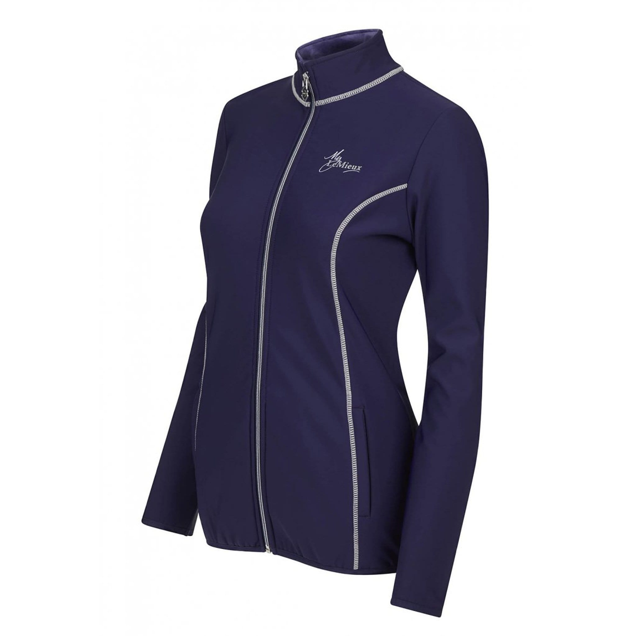 LeMieux Madrisa Fleece Jacket 5114 Ink Blue Side View